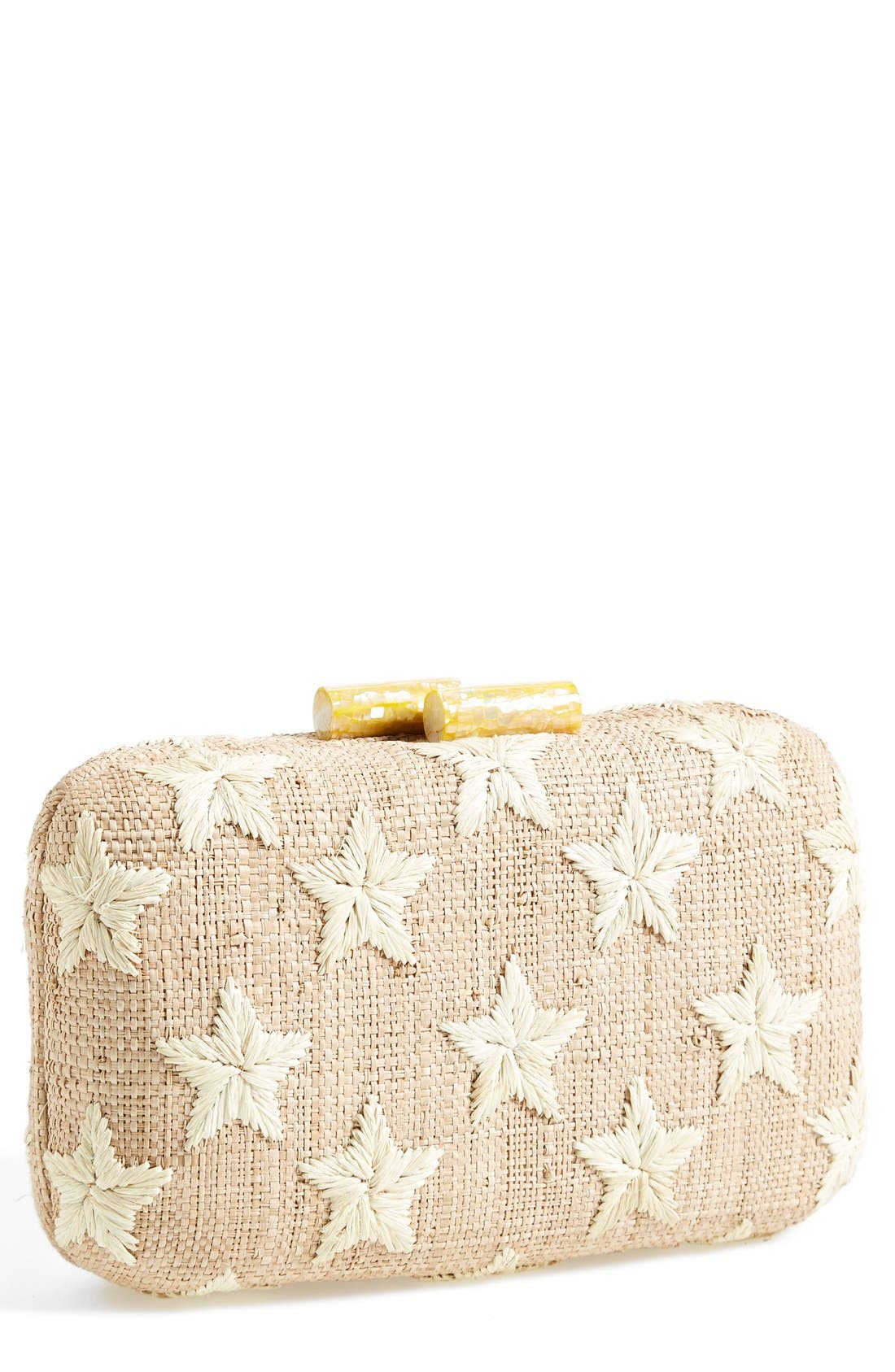 Alternate Image 1 Selected - Kayu 'Star' Straw Clutch