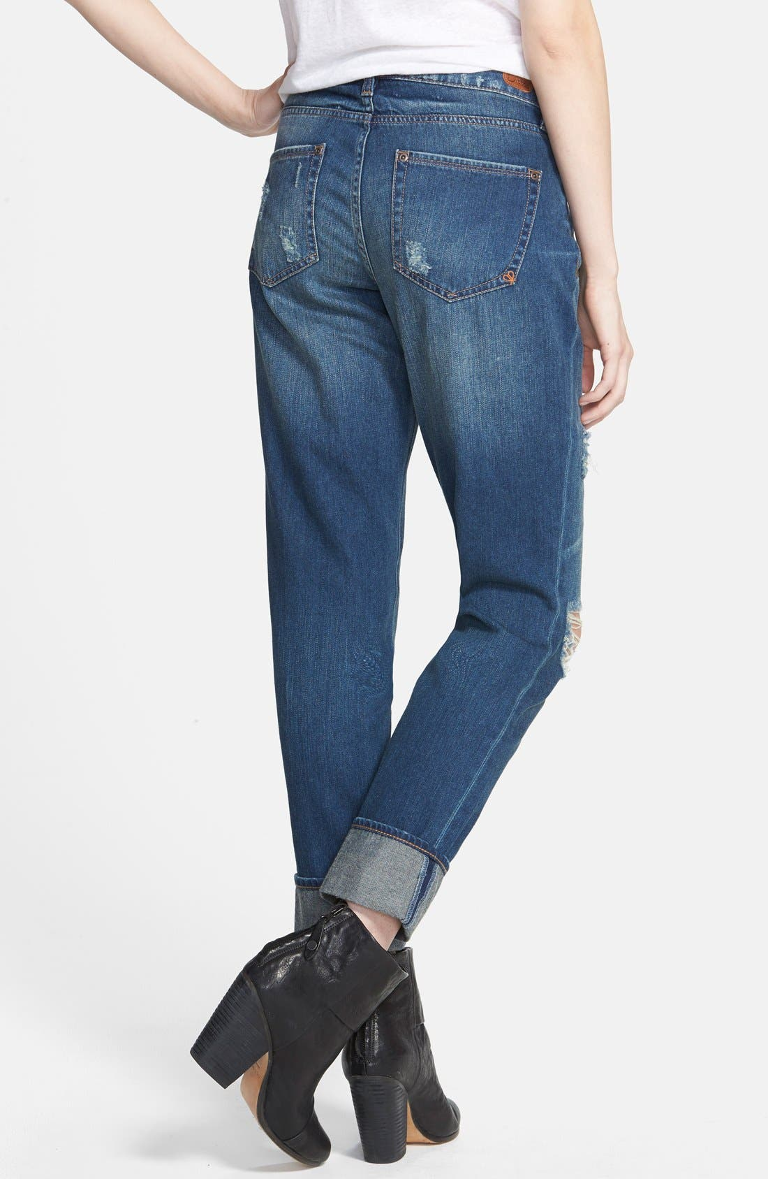 Alternate Image 2  - Dittos Relaxed Straight Leg Jeans (Blue)