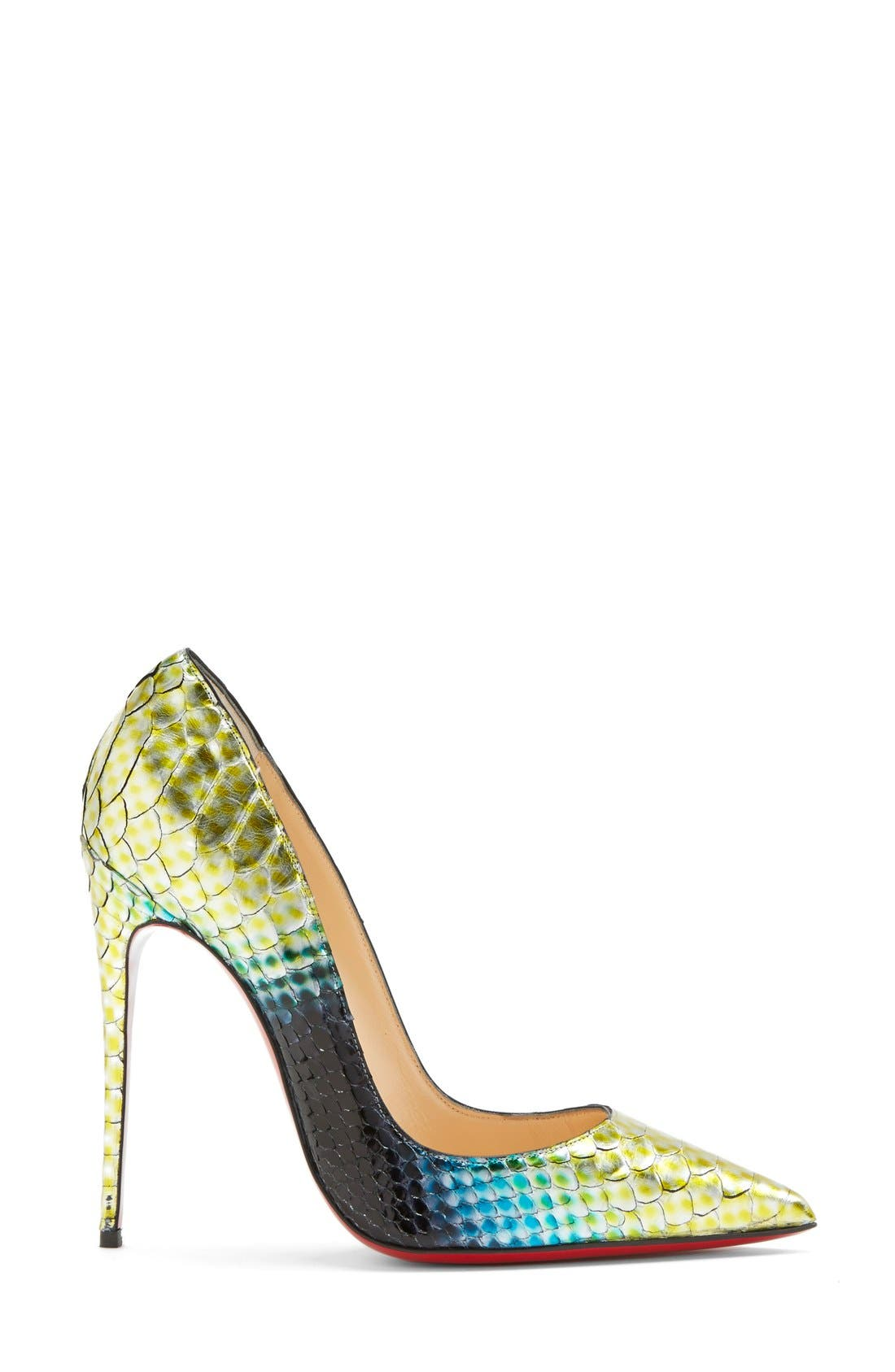 Alternate Image 4  - Christian Louboutin 'So Kate' Painted Genuine Python Pointy Toe Pump