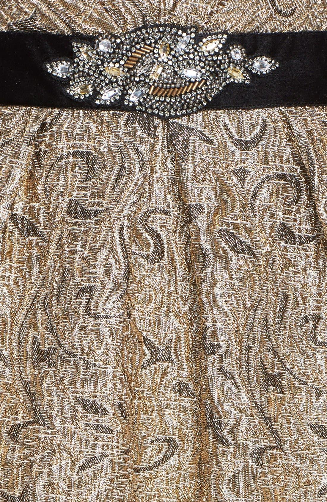 Alternate Image 4  - Aidan Mattox Embellished Waist Jacquard Fit & Flare Dress