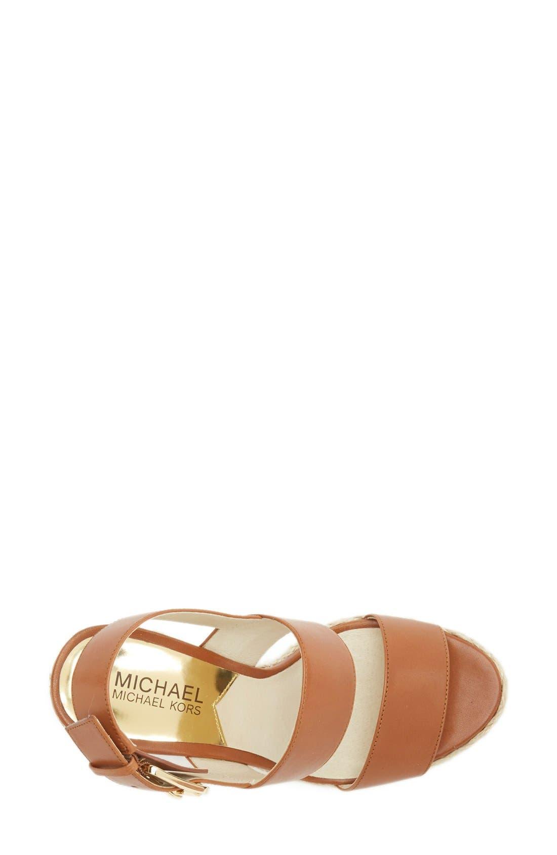 Alternate Image 3  - MICHAEL Michael Kors 'Posey' Espadrille Wedge Sandal (Women)