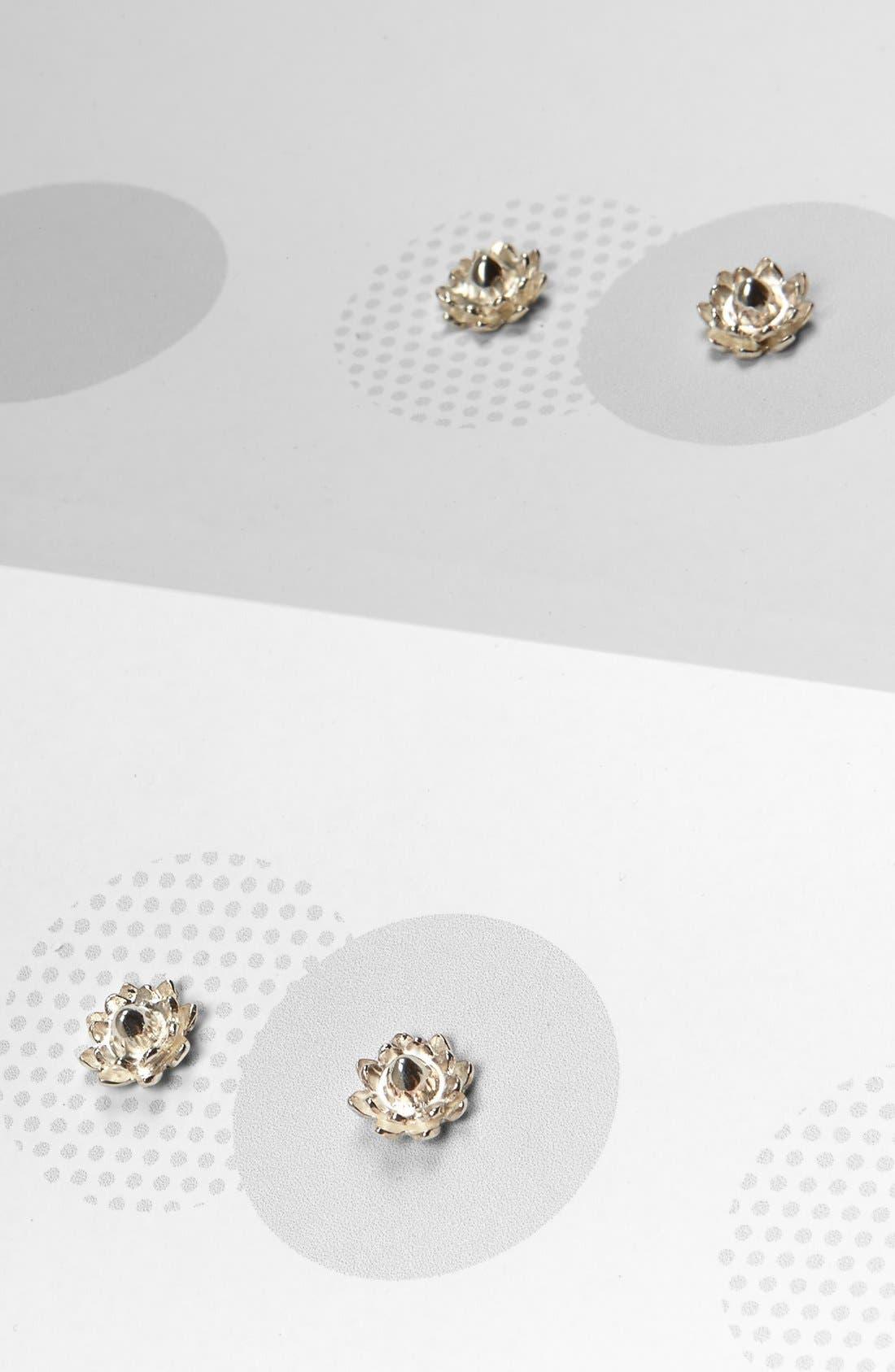 Alternate Image 3  - Meadowlark Protea Sterling Silver Stud Earrings