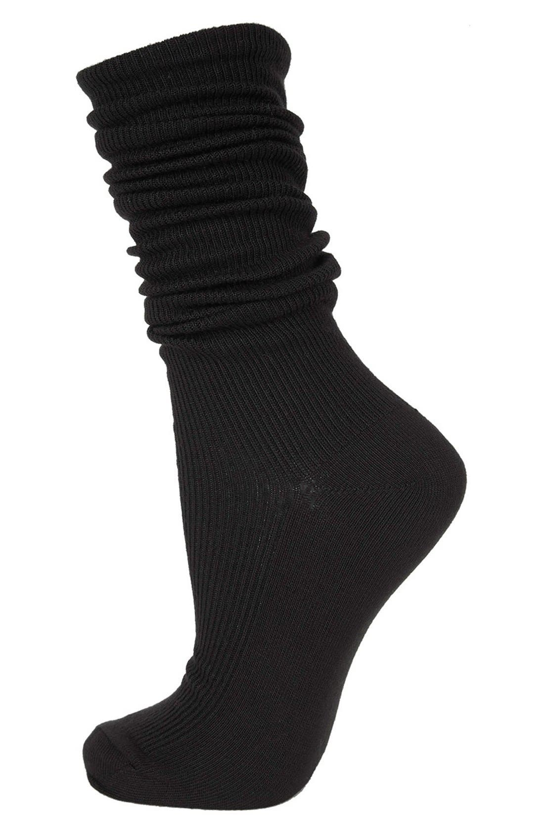 Main Image - Topshop Slouchy Ribbed Socks