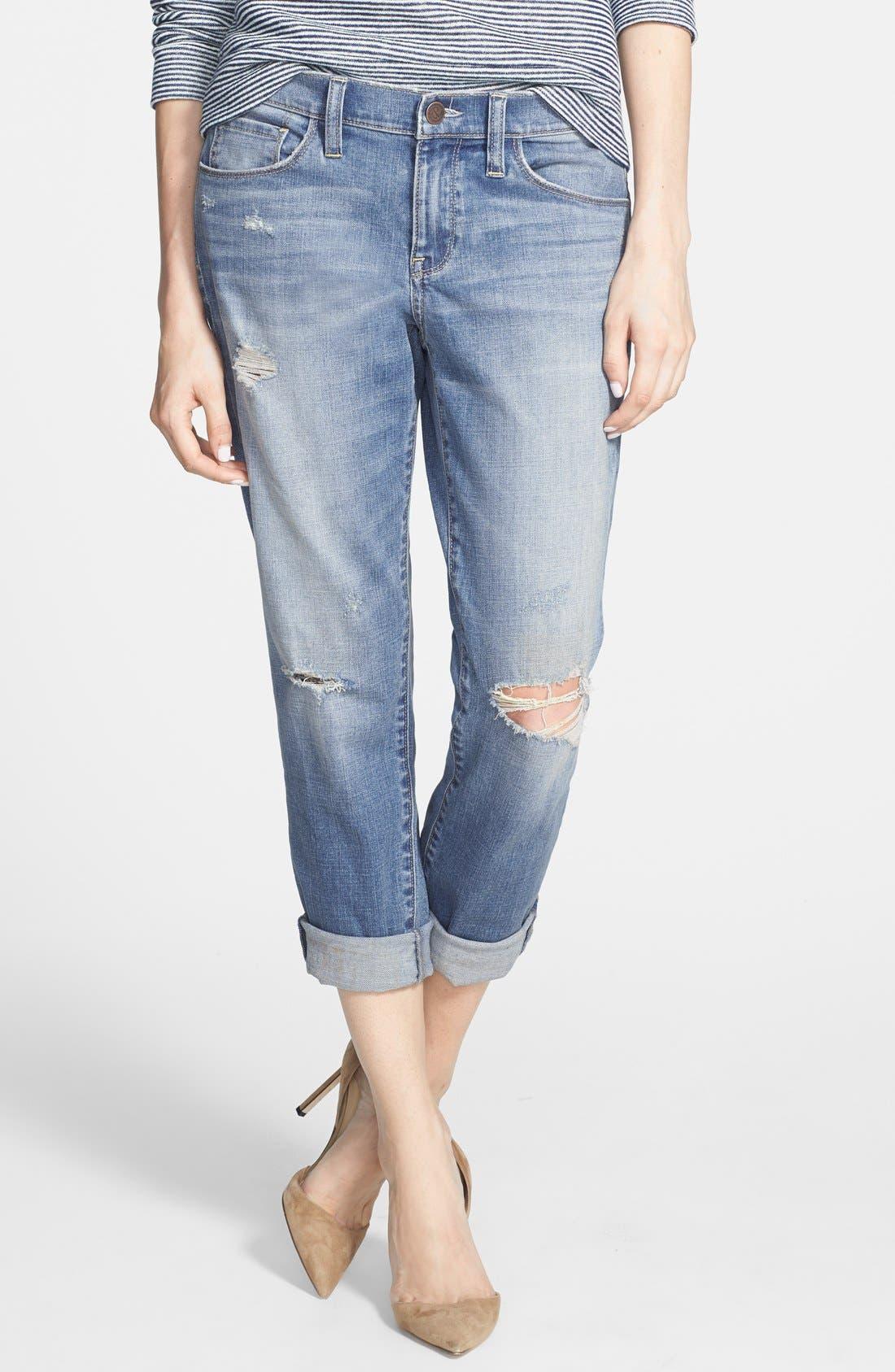 Alternate Image 1 Selected - Treasure&Bond Denim Boyfriend Jeans (Light Vintage Wash)