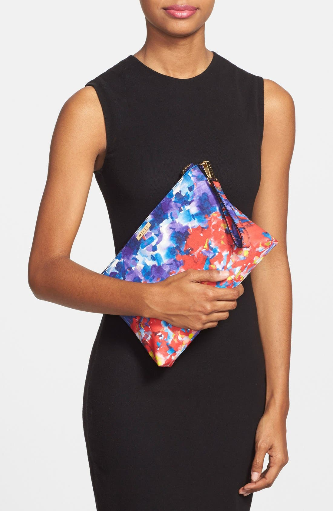 Alternate Image 2  - Milly 'Watercolor' Faux Leather Wristlet Clutch