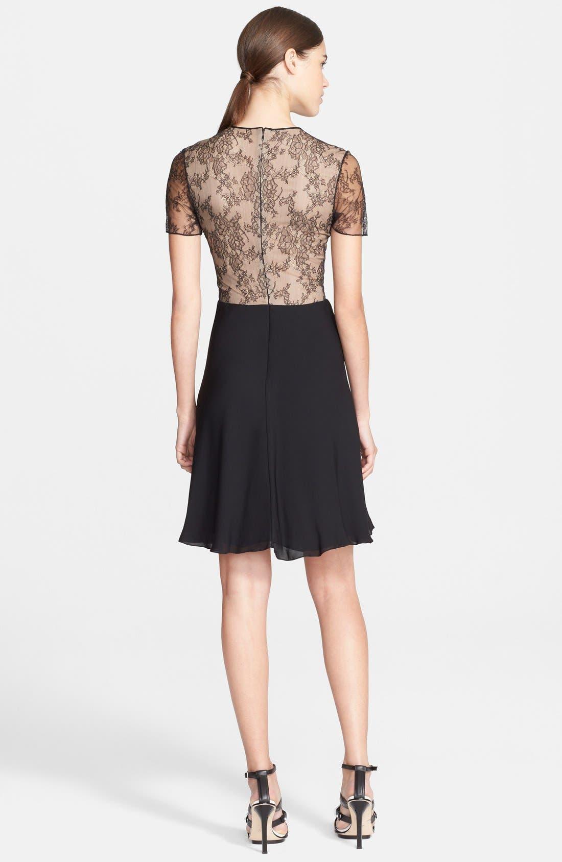 Alternate Image 2  - Jason Wu Floral Lace & Silk Georgette Dress