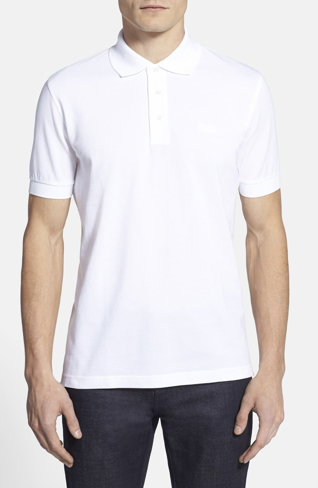 Main Image - BOSS 'Ferrara' Comfort Fit Piqué Polo (Online Only)