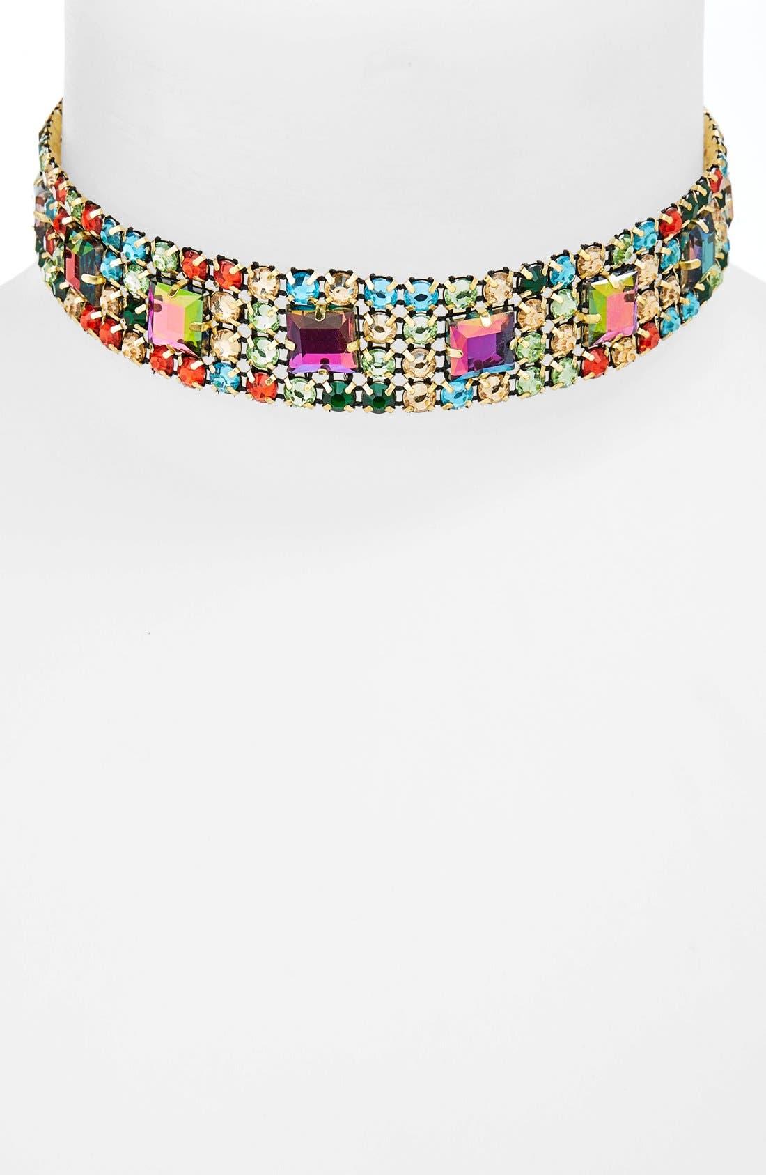 Alternate Image 1 Selected - Topshop Rhinestone Choker Necklace