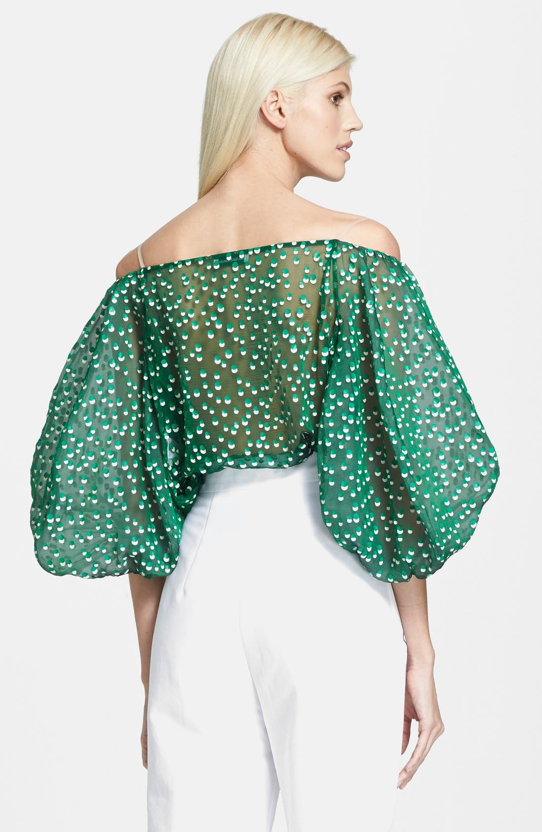 Alternate Image 2  - Vika Gazinskaya Polka Dot Off the Shoulder Décolletage Blouse