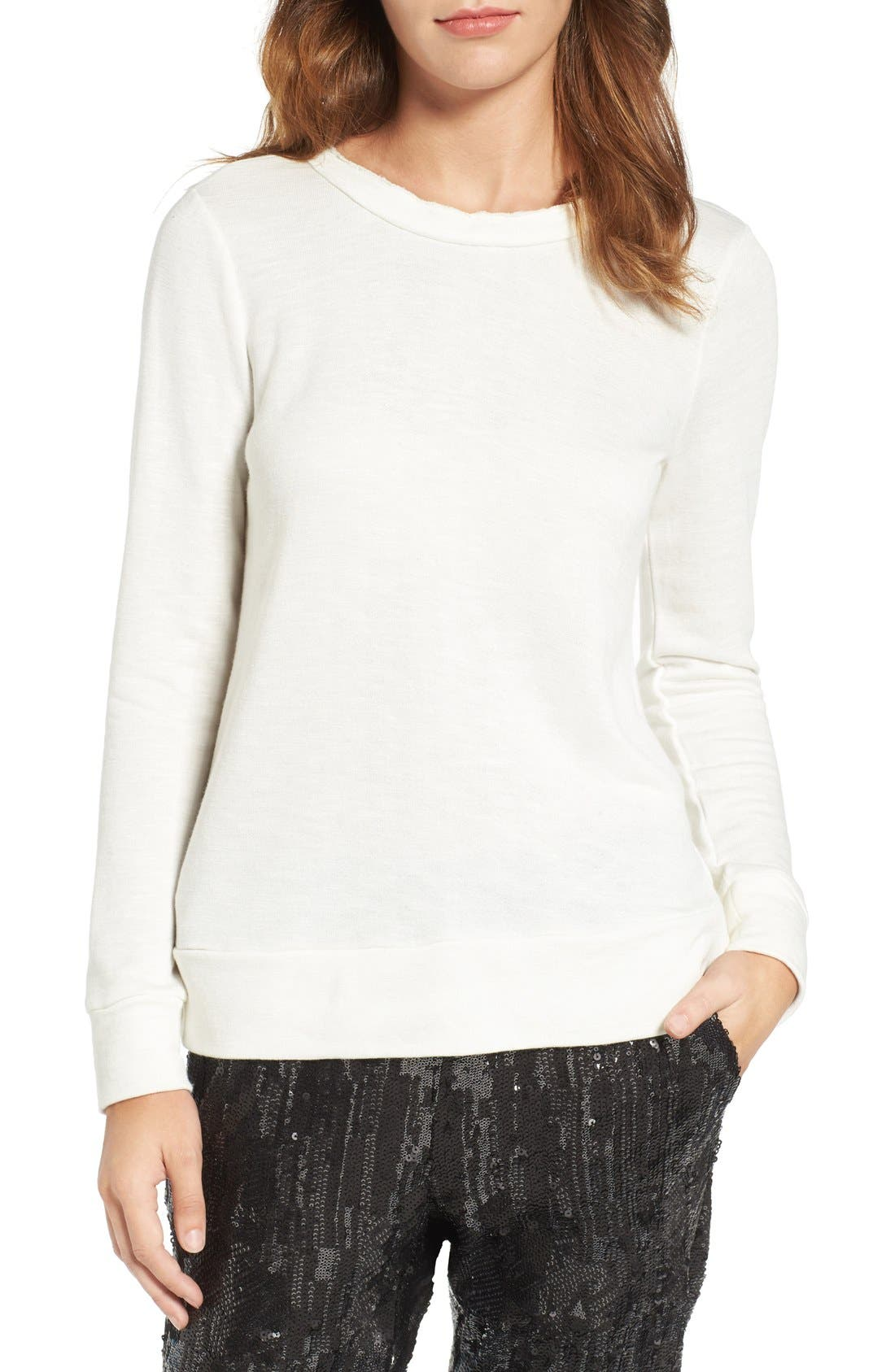 Alternate Image 1 Selected - Chelsea28 Ruffle Back Sweatshirt