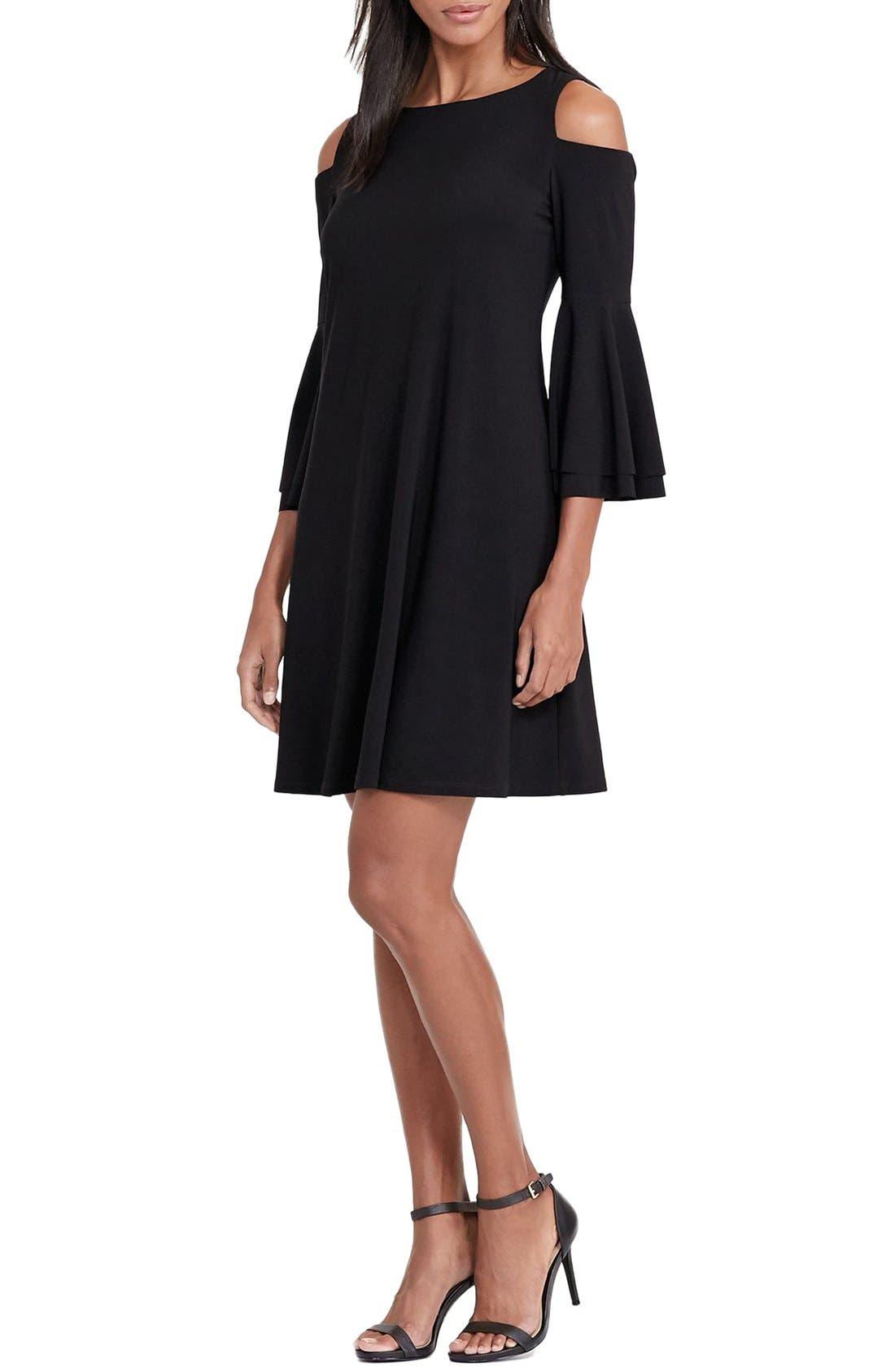 Alternate Image 3  - Lauren Ralph Lauren Cold Shoulder Jersey A-Line Dress