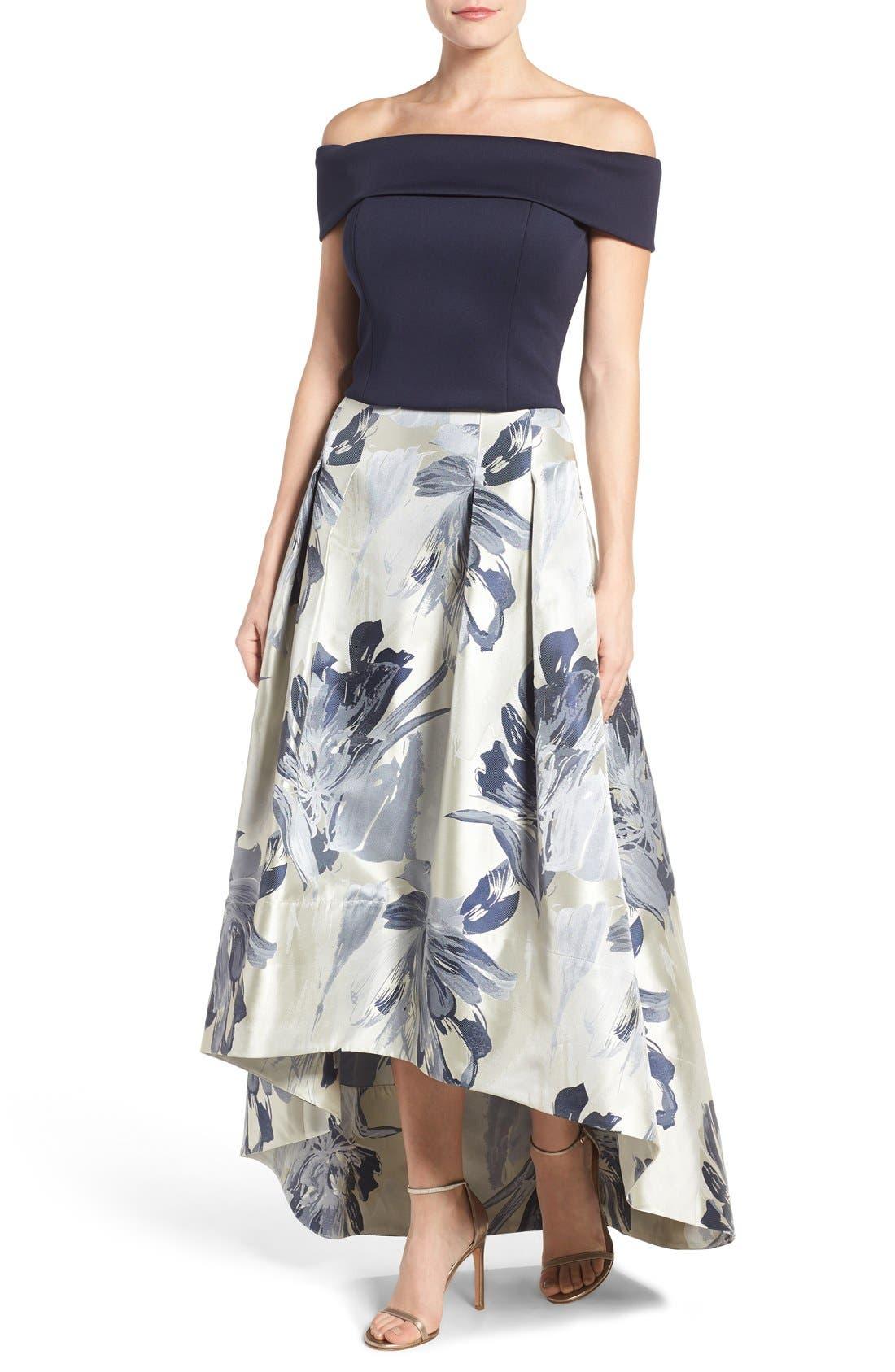 Alternate Image 2  - Eliza J High/Low Ball Skirt