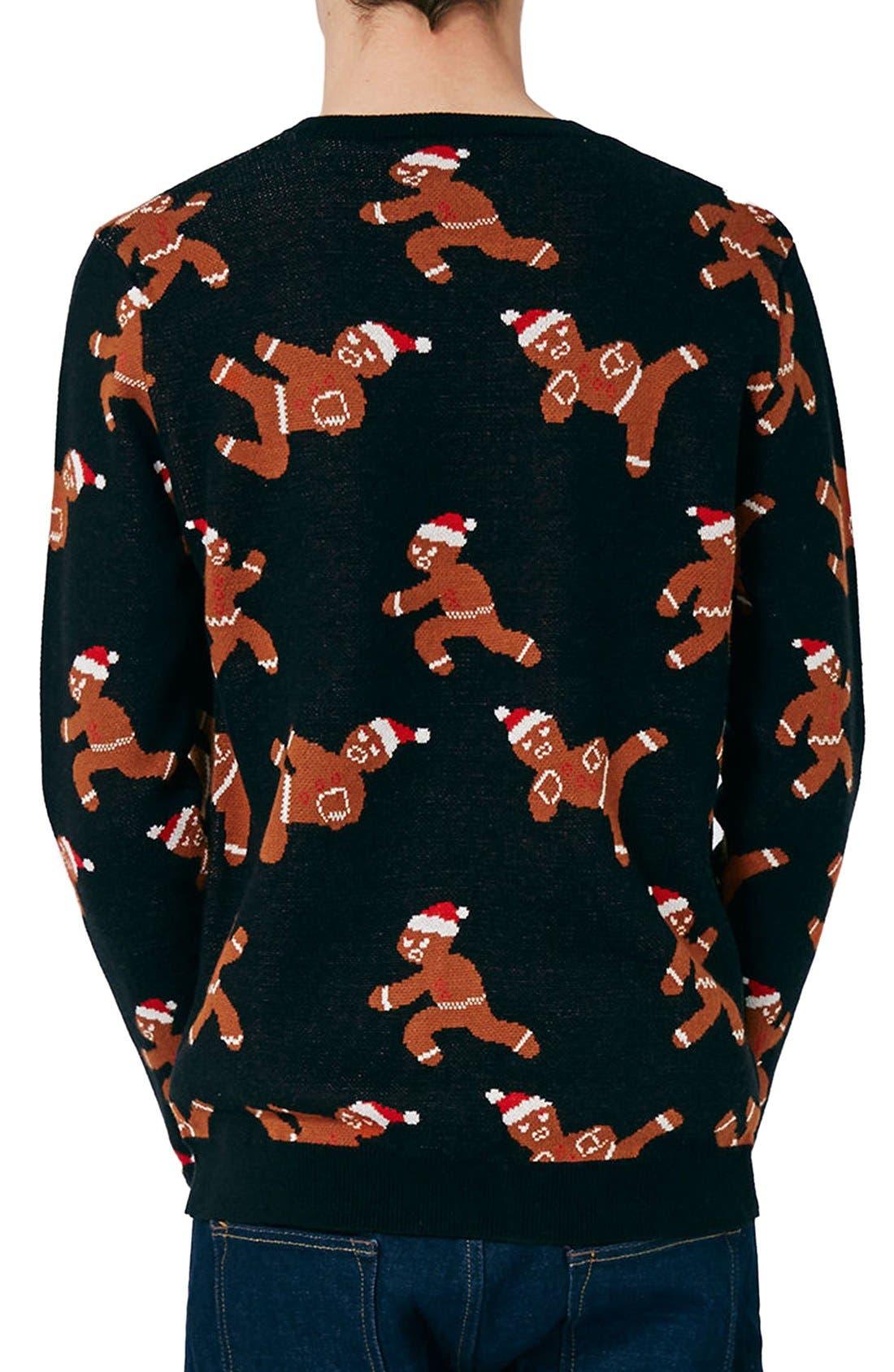 Alternate Image 3  - Topman Ninja Gingerbread Men Sweater