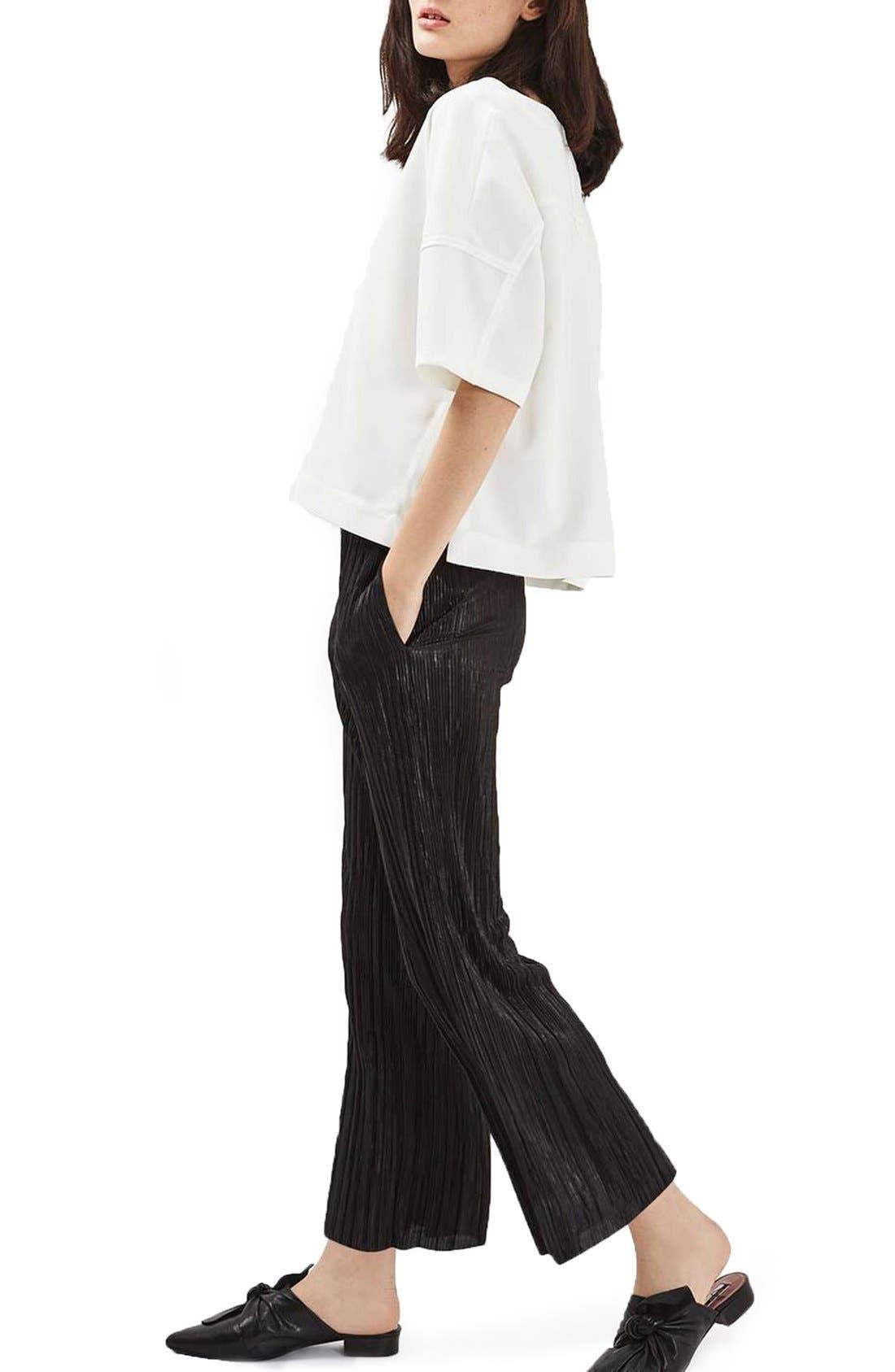Alternate Image 2  - Topshop Plissé Trousers