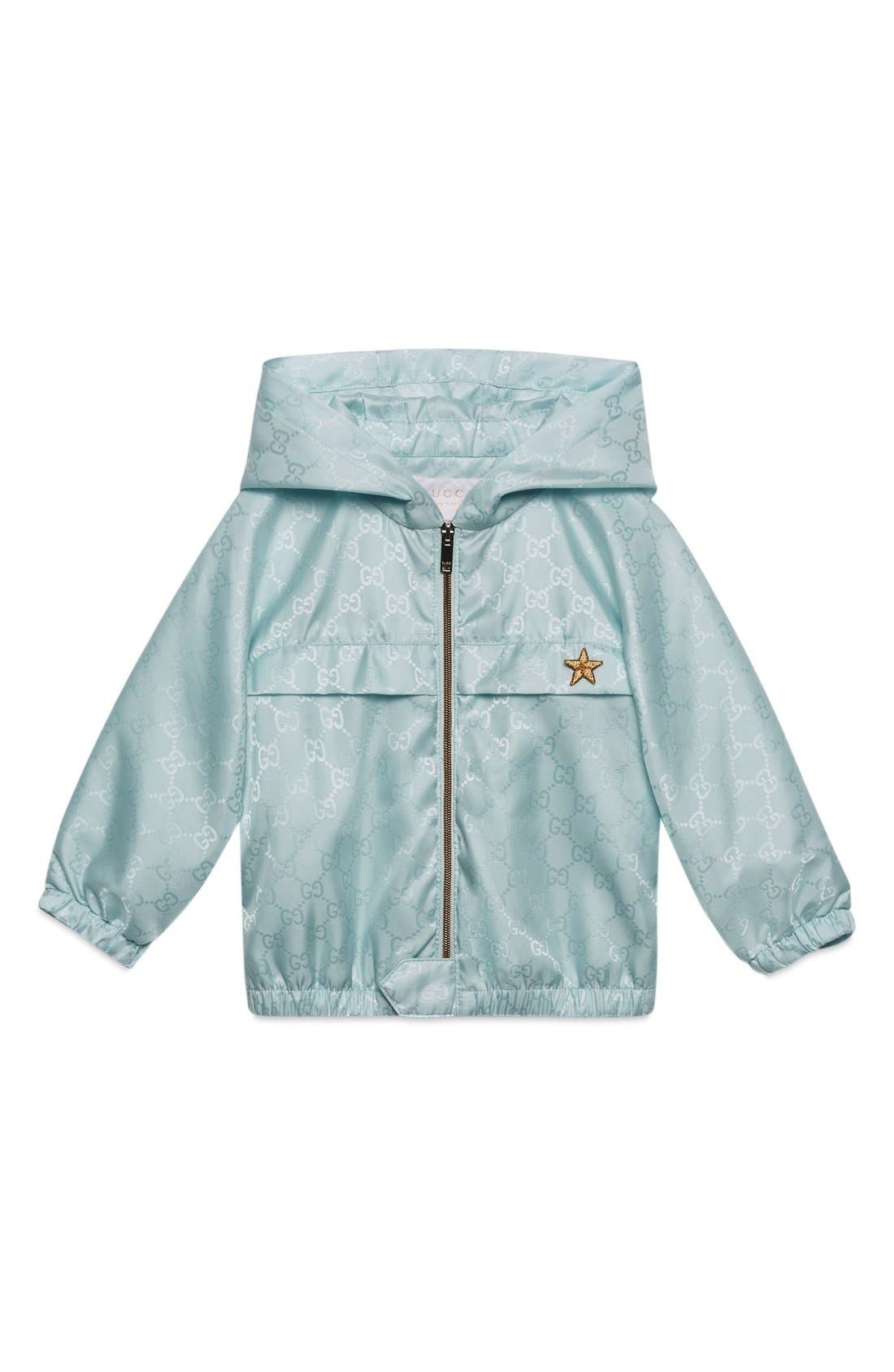 GUCCI Logo Jacquard Hooded Nylon Jacket