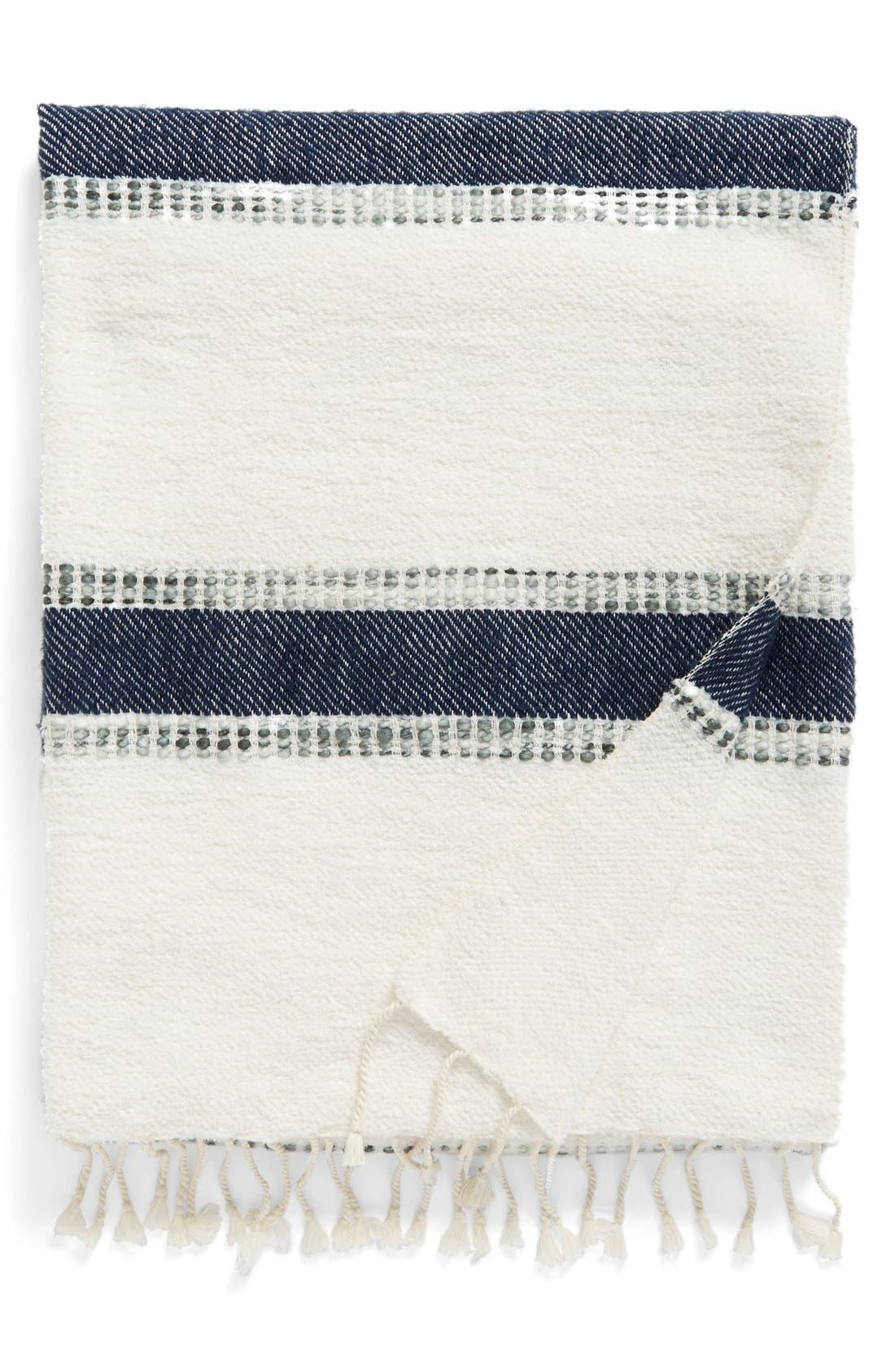Alternate Image 1 Selected - Nordstrom at Home Brushed Stripe Throw