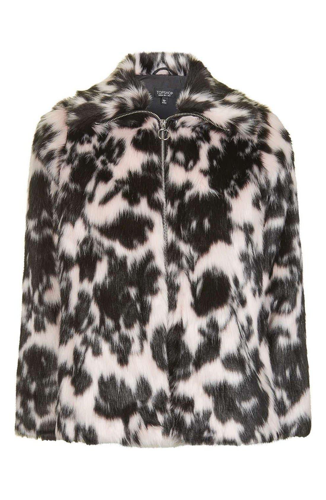 Alternate Image 4  - Topshop Sweet Dreams Faux Fur Coat