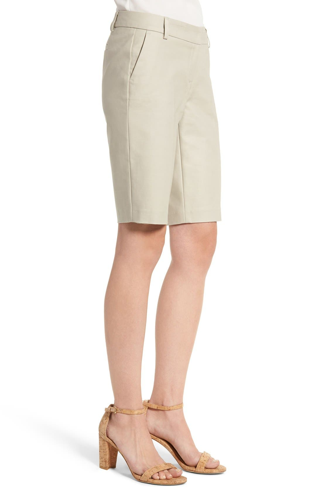 Alternate Image 4  - Halogen® Stretch Bermuda Shorts (Regular & Petite)