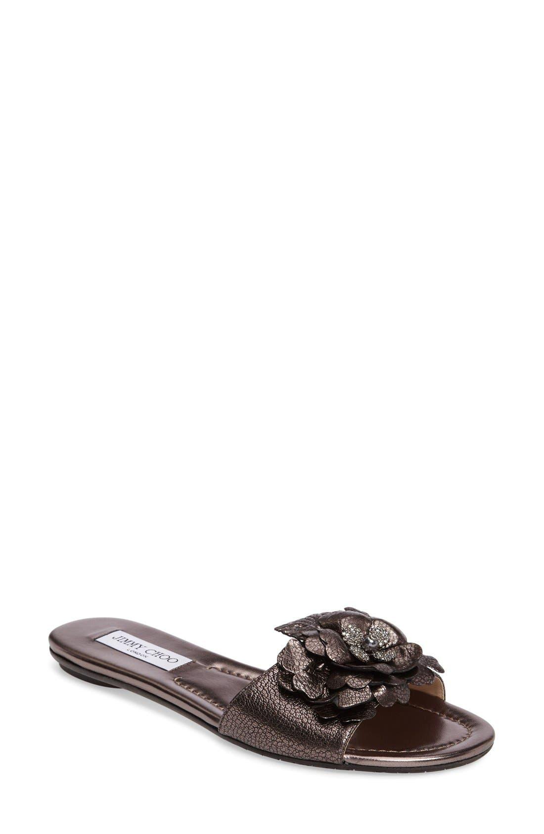 JIMMY CHOO Neave Embellished Slide Sandal