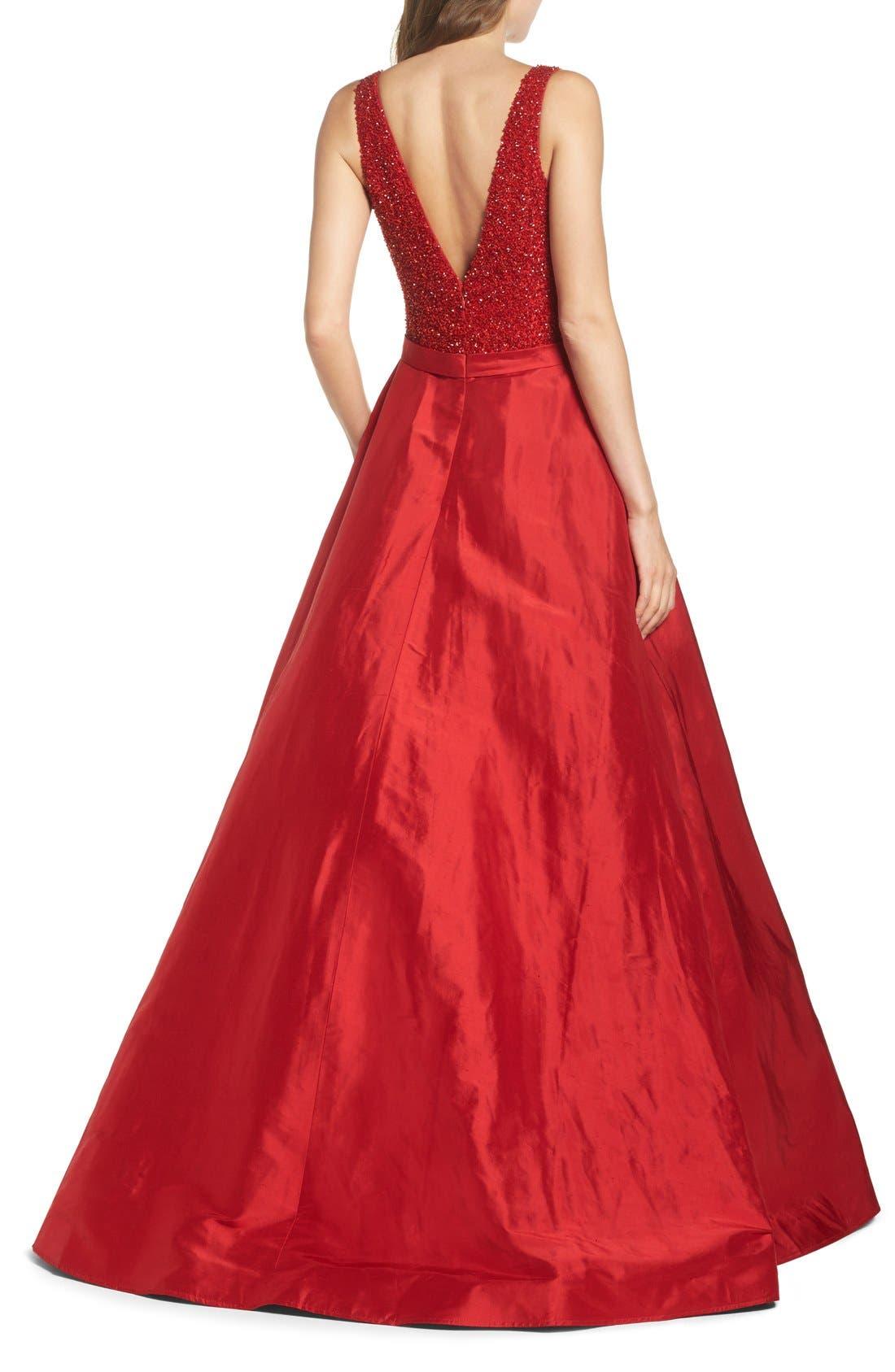 Alternate Image 2  - Jovani Embellished Silk Gown