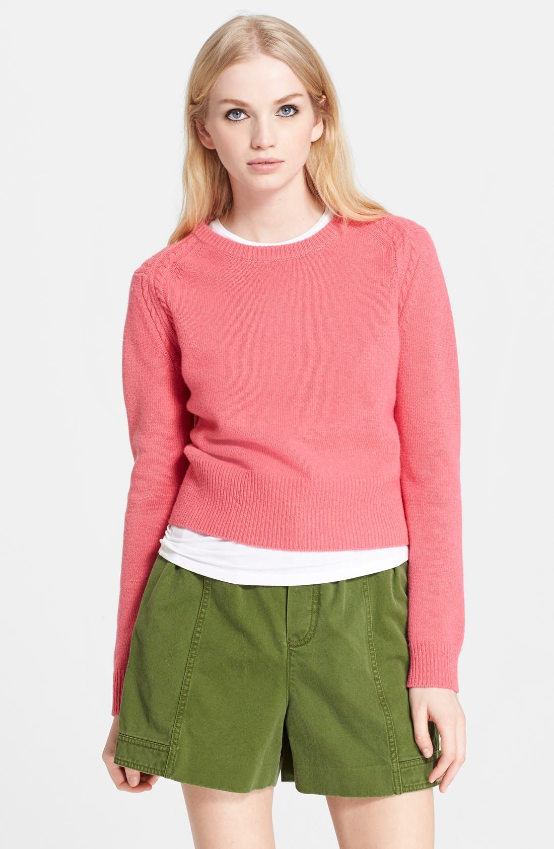 Alternate Image 1 Selected - MARC BY MARC JACOBS 'Iris' Wool Crewneck Sweater