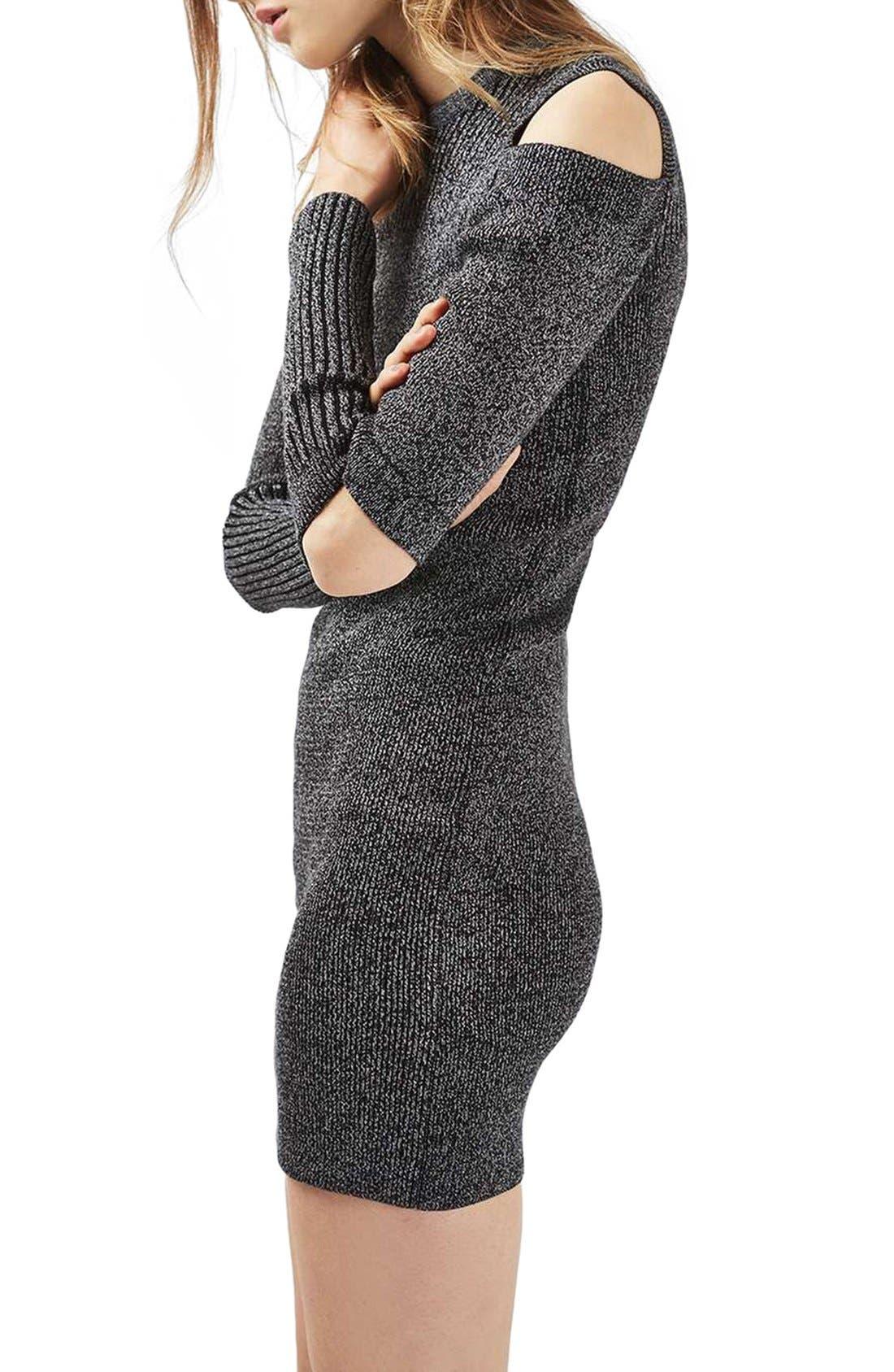 Alternate Image 4  - Topshop Slash Ribbed Sweater Dress