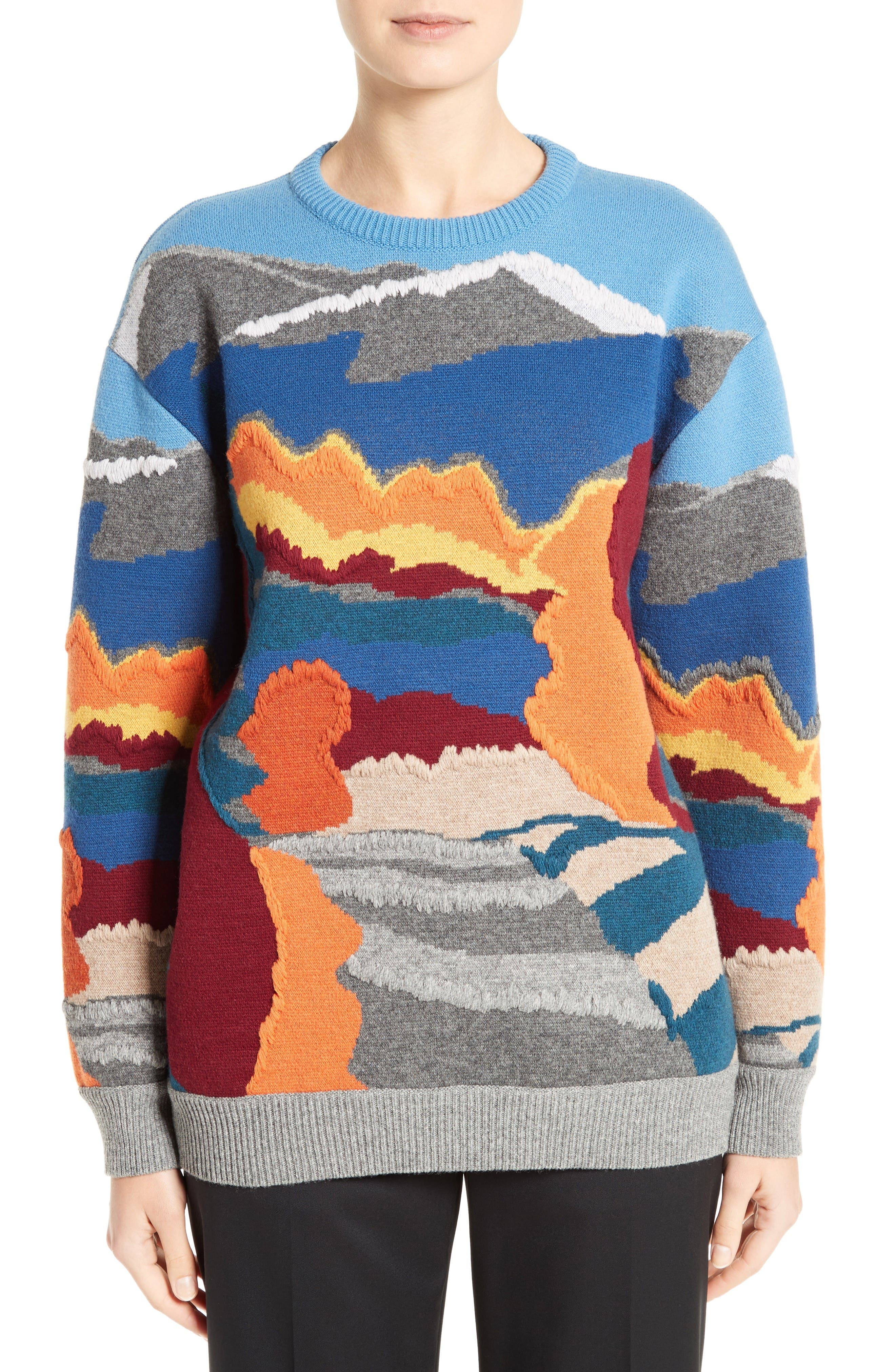 Alternate Image 1 Selected - Stella McCartney 'Landscape' Intarsia Knit Wool Sweater