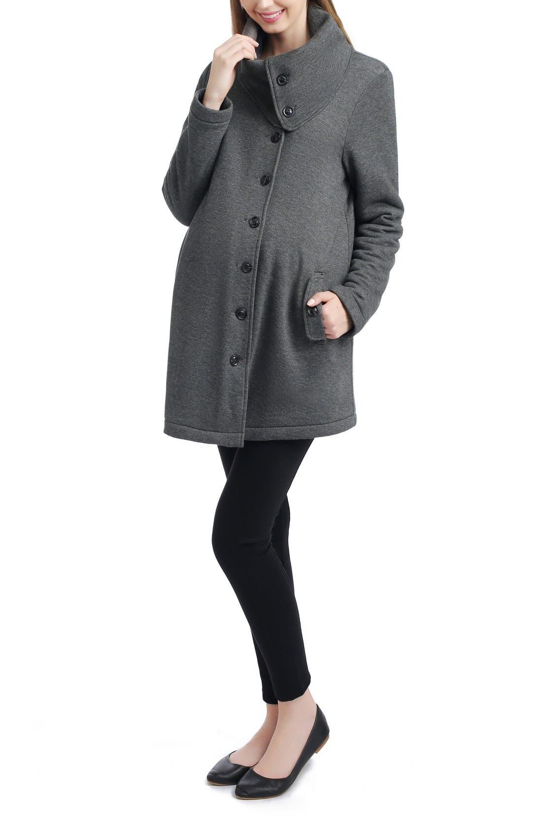 Alternate Image 1 Selected - Kimi and Kai Abella Maternity Sweatshirt Jacket