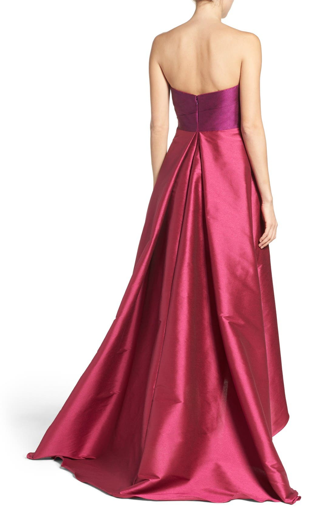 Alternate Image 2  - Adrianna Papell Colorblock Strapless Gown