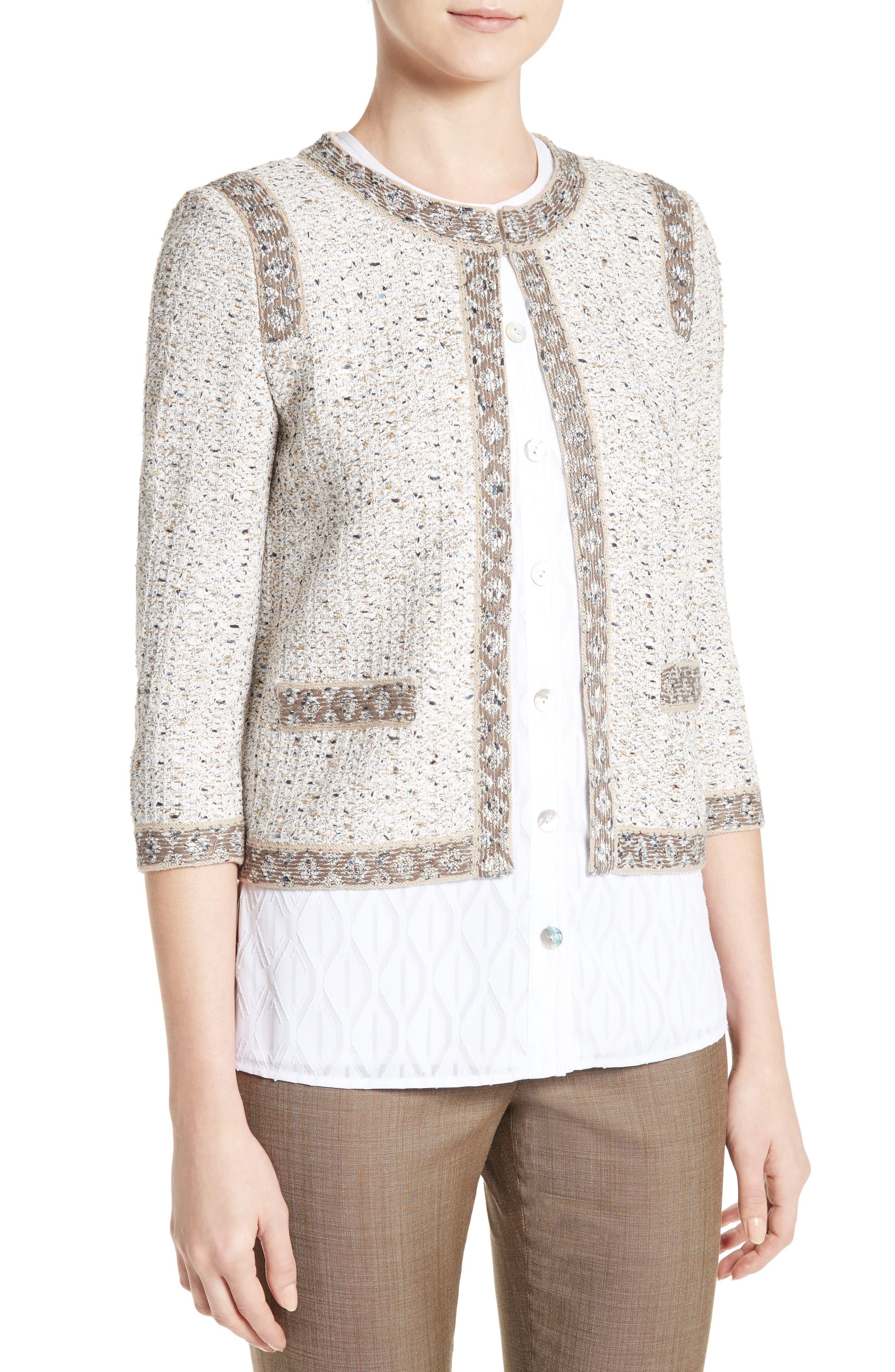 Alternate Image 6  - St. John Collection Kira Tweed Jacket