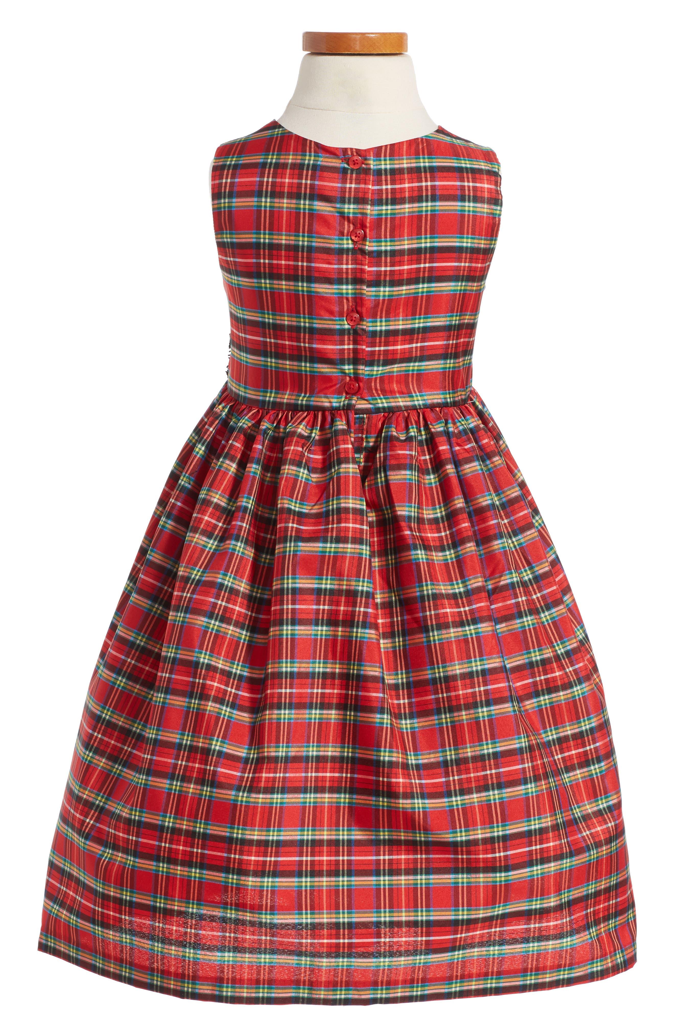 Alternate Image 3  - Pippa & Julie Plaid Dress & Velvet Jacket (Toddler Girls, Little Girls & Big Girls)