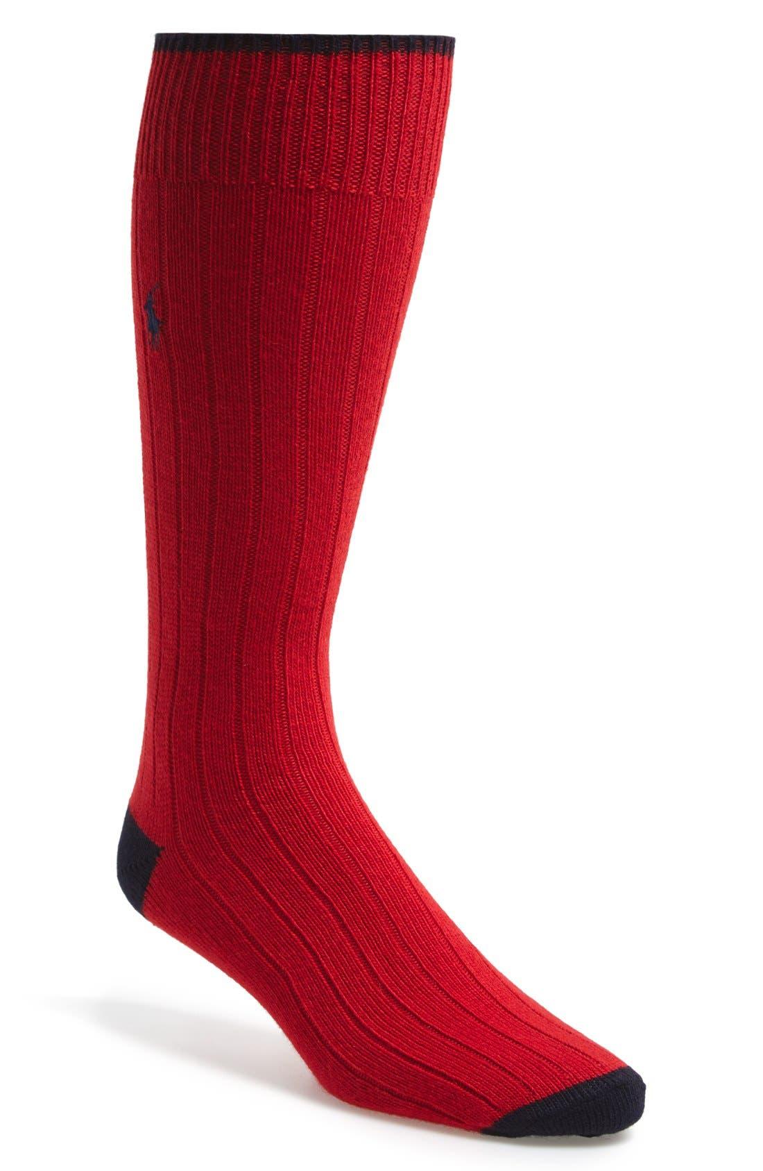 Alternate Image 1 Selected - Polo Ralph Lauren Cashmere Blend Socks