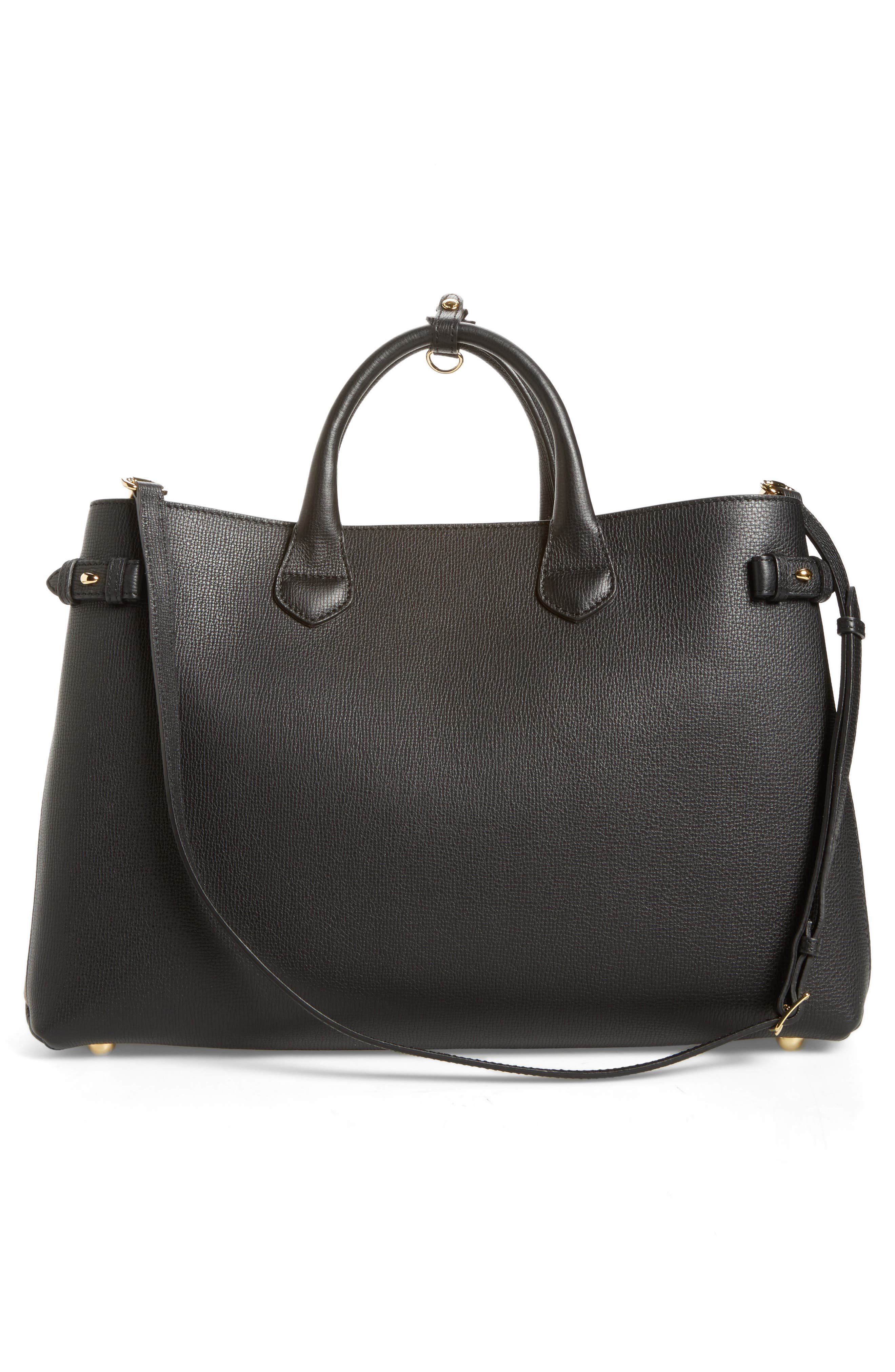 Alternate Image 2  - Burberry Large Banner - Derby House Check Calfskin Leather Tote
