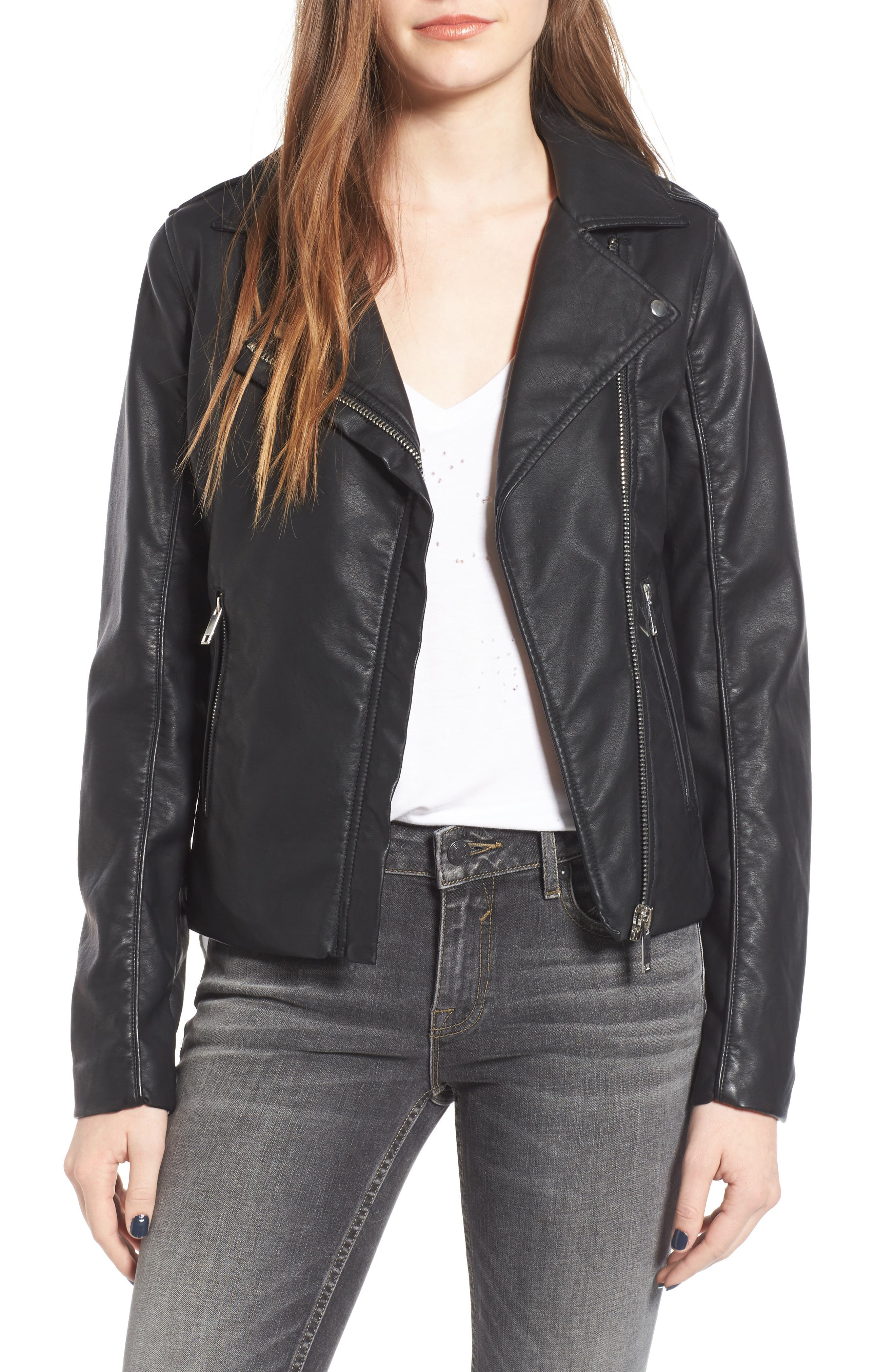 Alternate Image 1 Selected - Thread & Supply Big City Faux Leather Moto Jacket