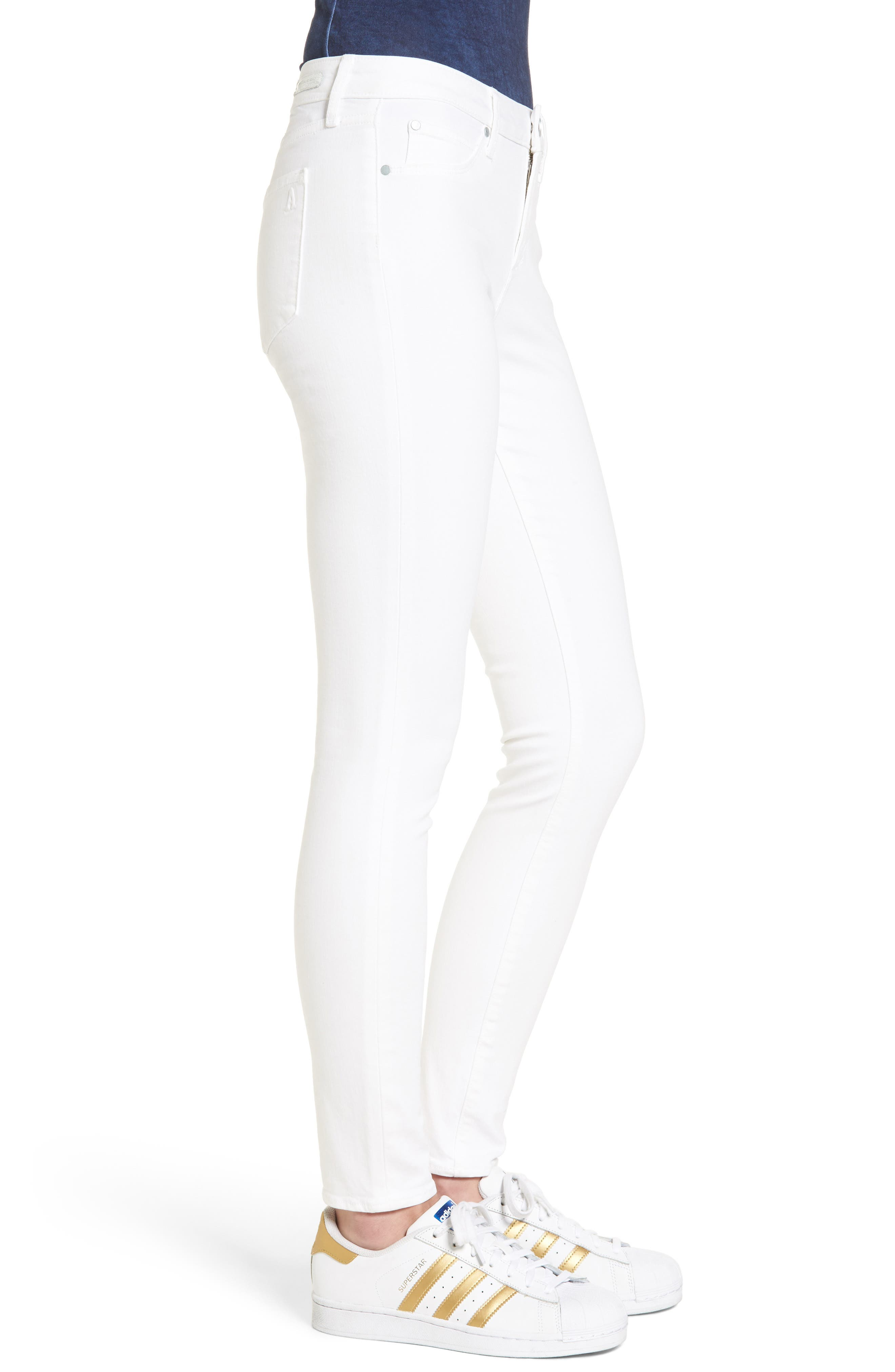 Alternate Image 4  - Articles of Society Sarah Skinny Jeans (Clear White)