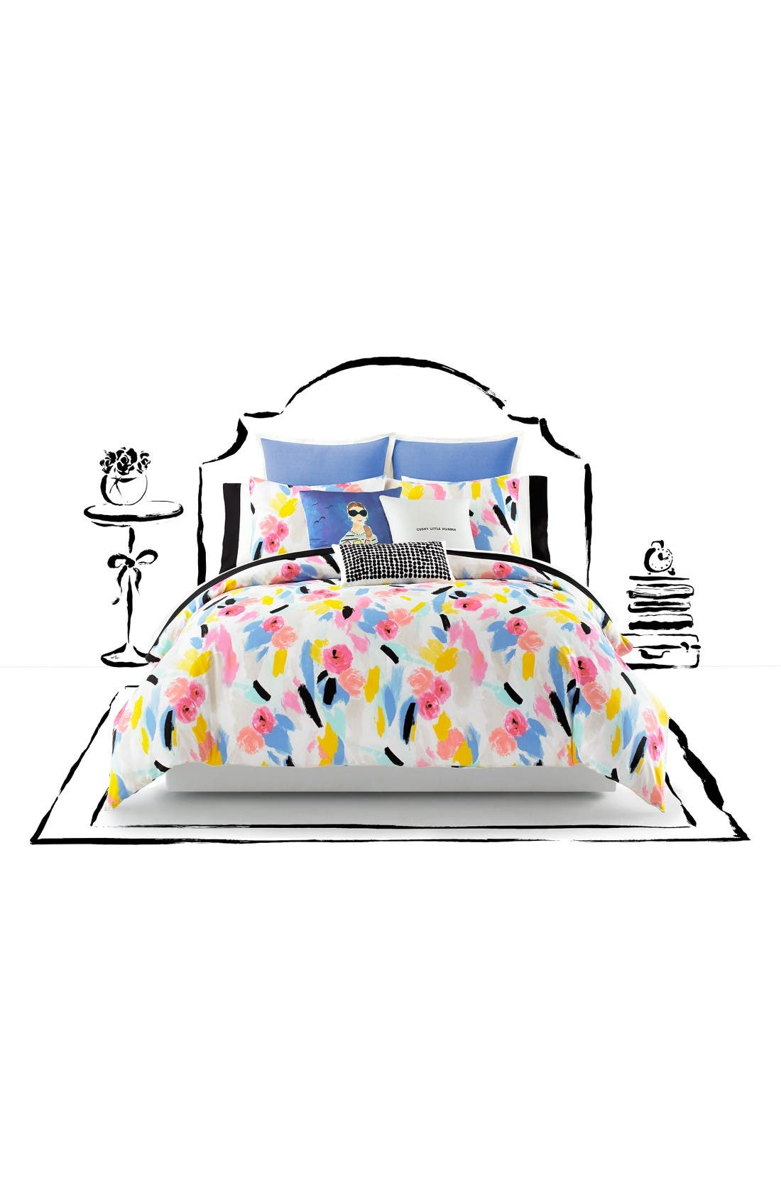 kate spade new york paintball floral comforter & sham set