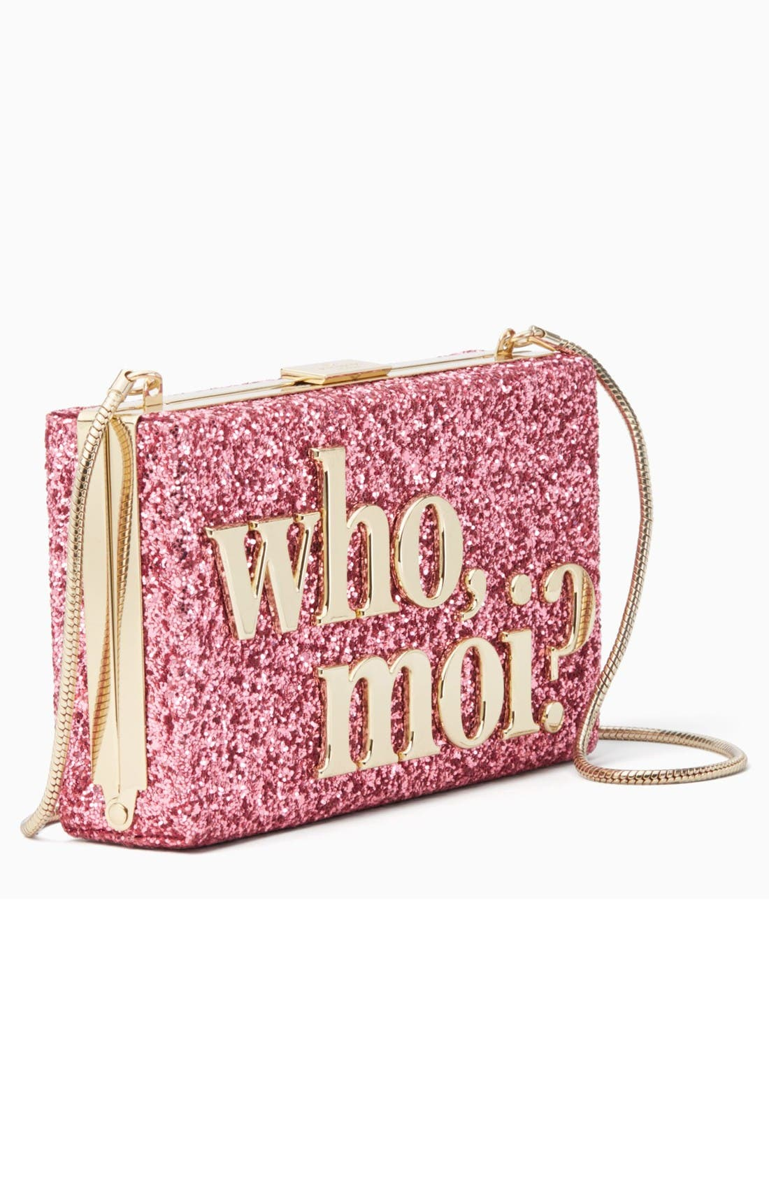 Alternate Image 4  - kate spade new york who moi? glitter clutch
