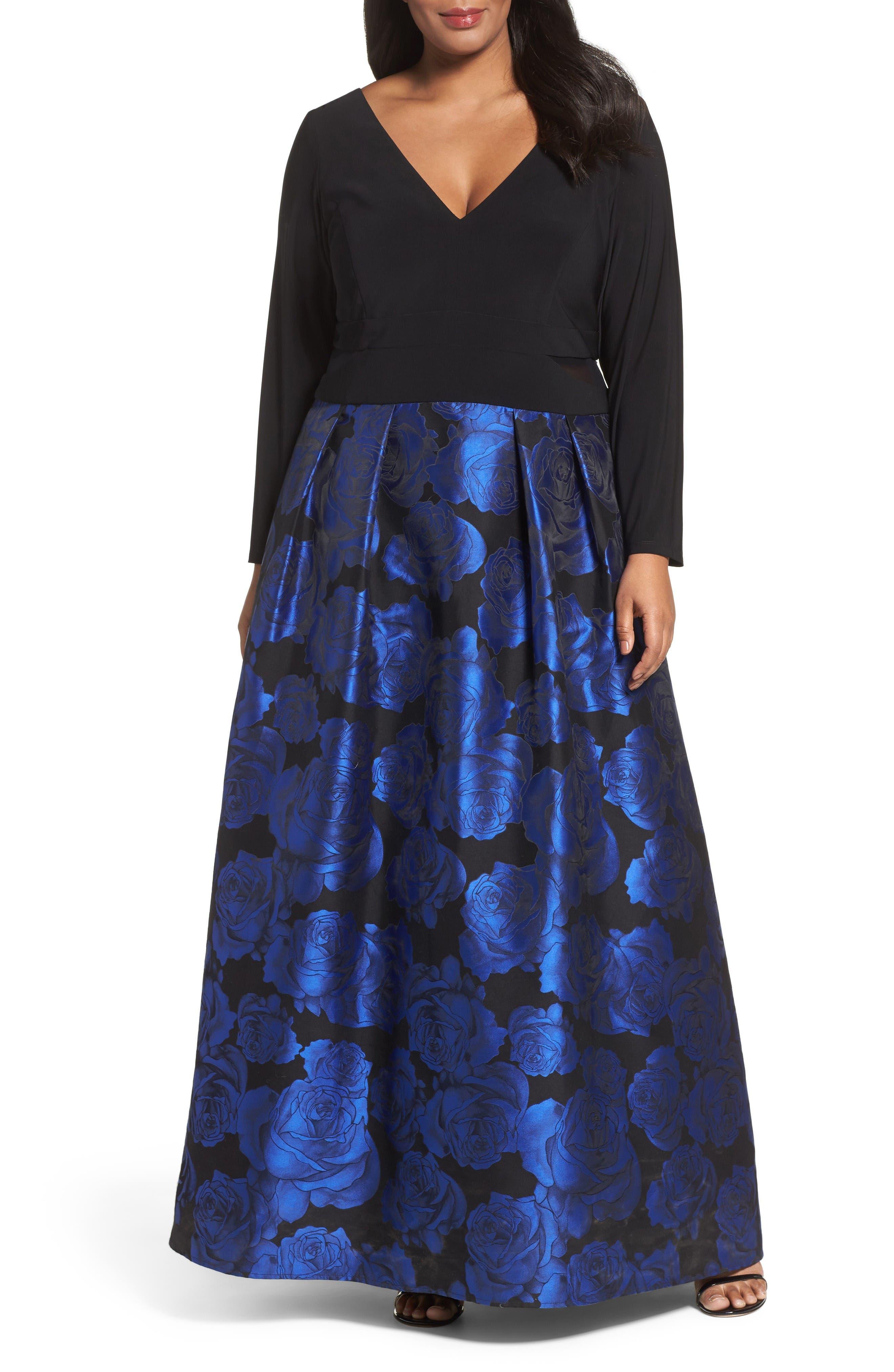 XSCAPE Evenings Brocade Gown