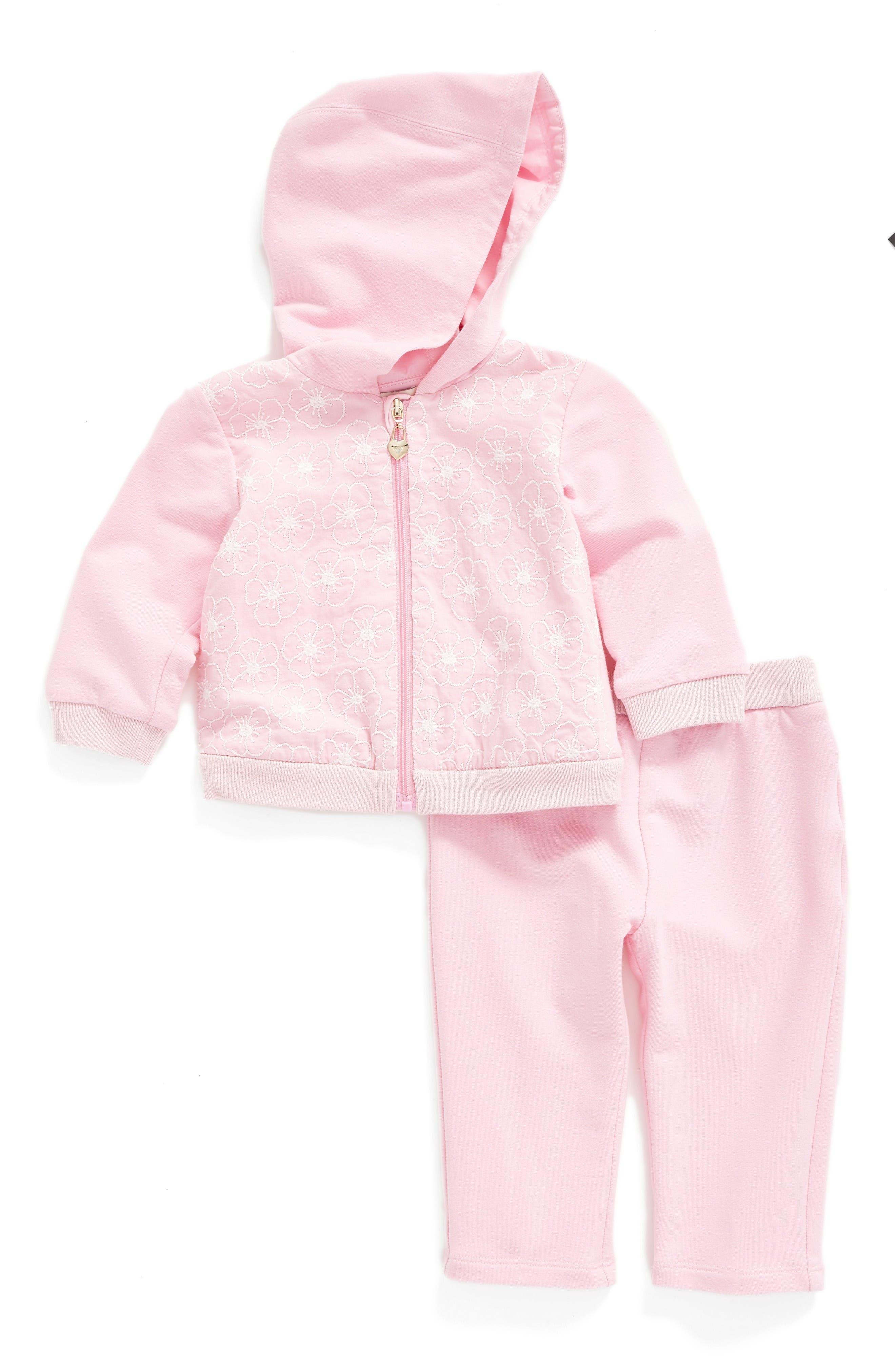 Armani Junior Hoodie & Leggings Set (Baby Girls)