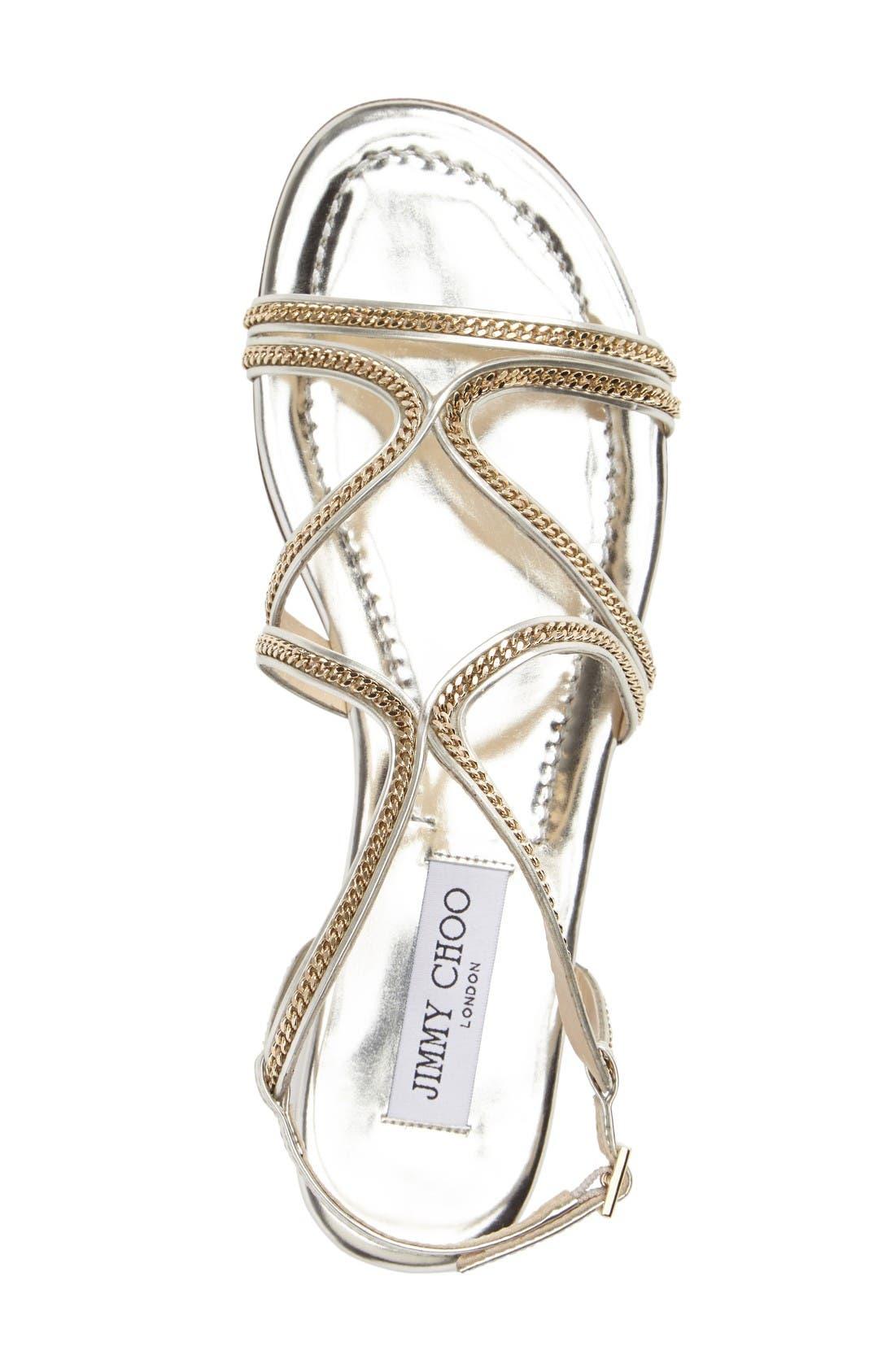 Alternate Image 3  - Jimmy Choo Nickel Flat Sandal (Women)