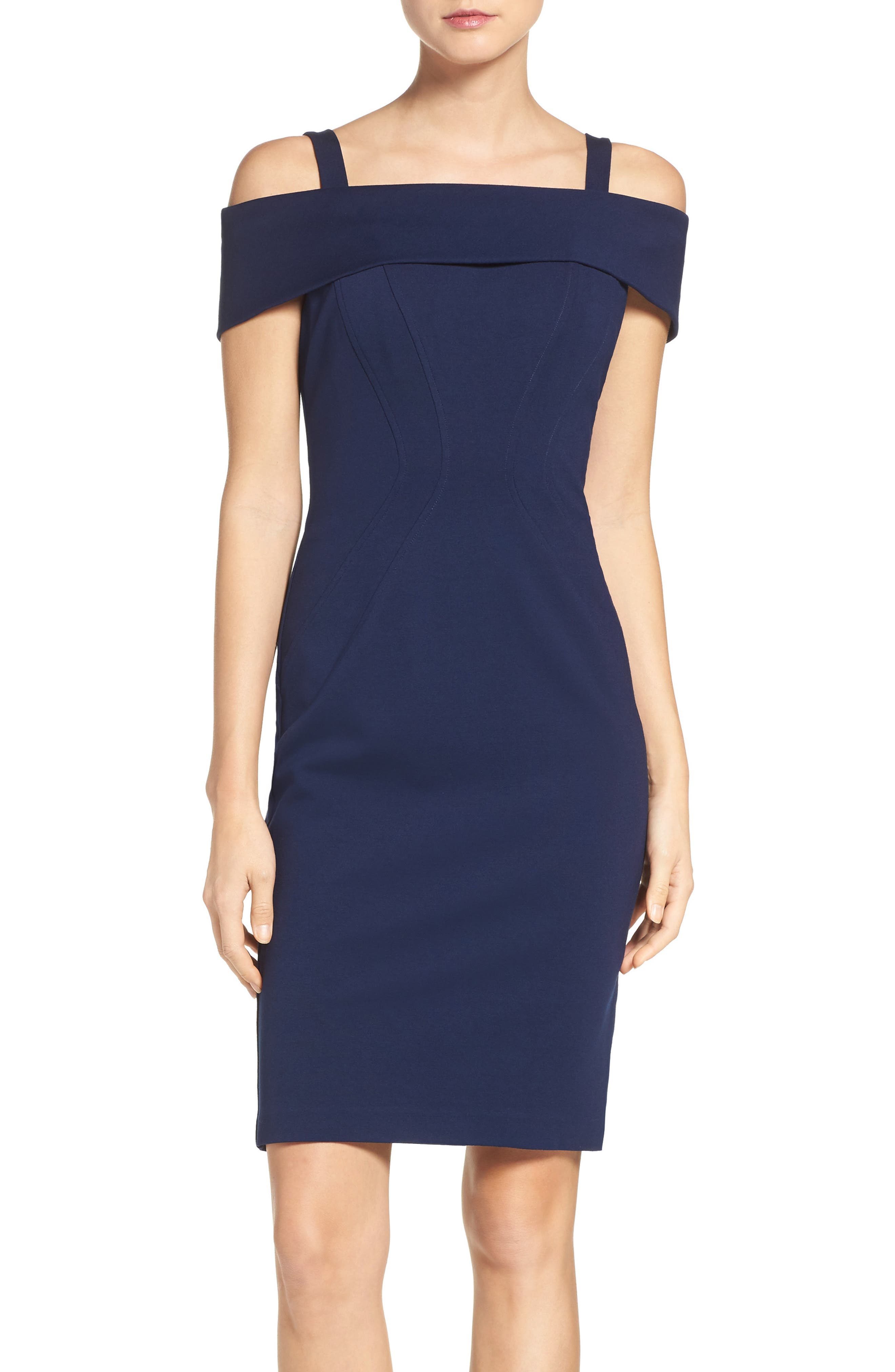 Main Image - Vince Camuto Ponte Body-Con Dress