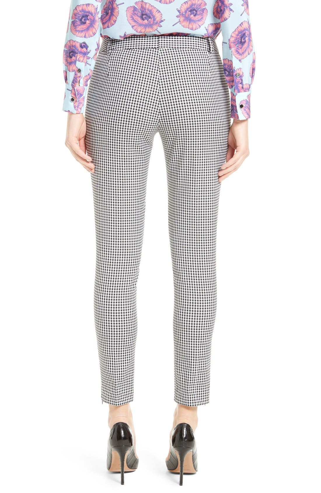 Alternate Image 2  - Altuzarra Henri Gingham Stretch Cotton Pants