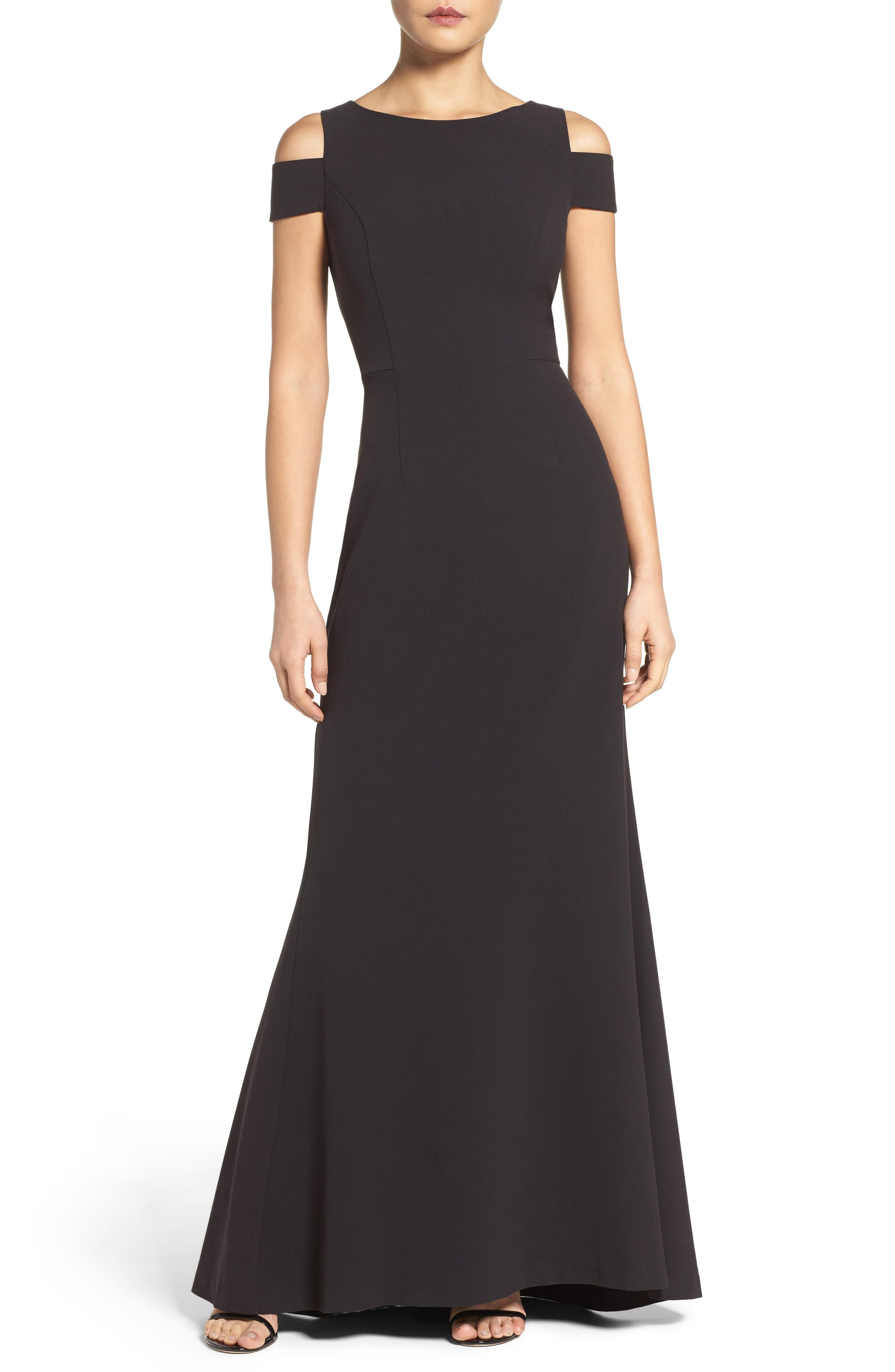 Vince Camuto Cold Shoulder Gown