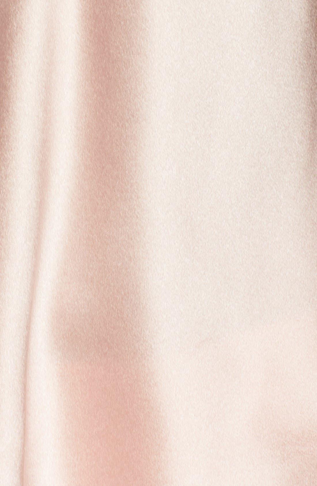Alternate Image 5  - Christine Lingerie Stretch Silk Pajamas