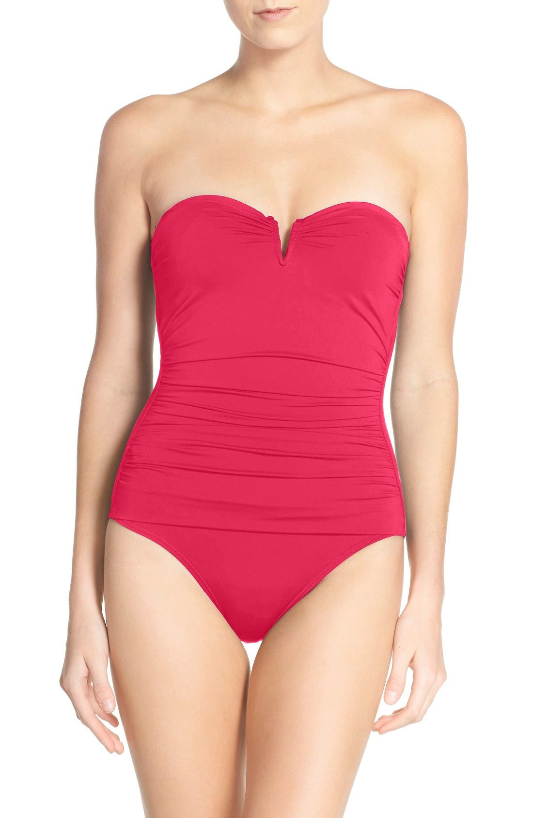 Alternate Image 1 Selected - Tommy Bahama 'Pearl' Convertible One-Piece Swimsuit