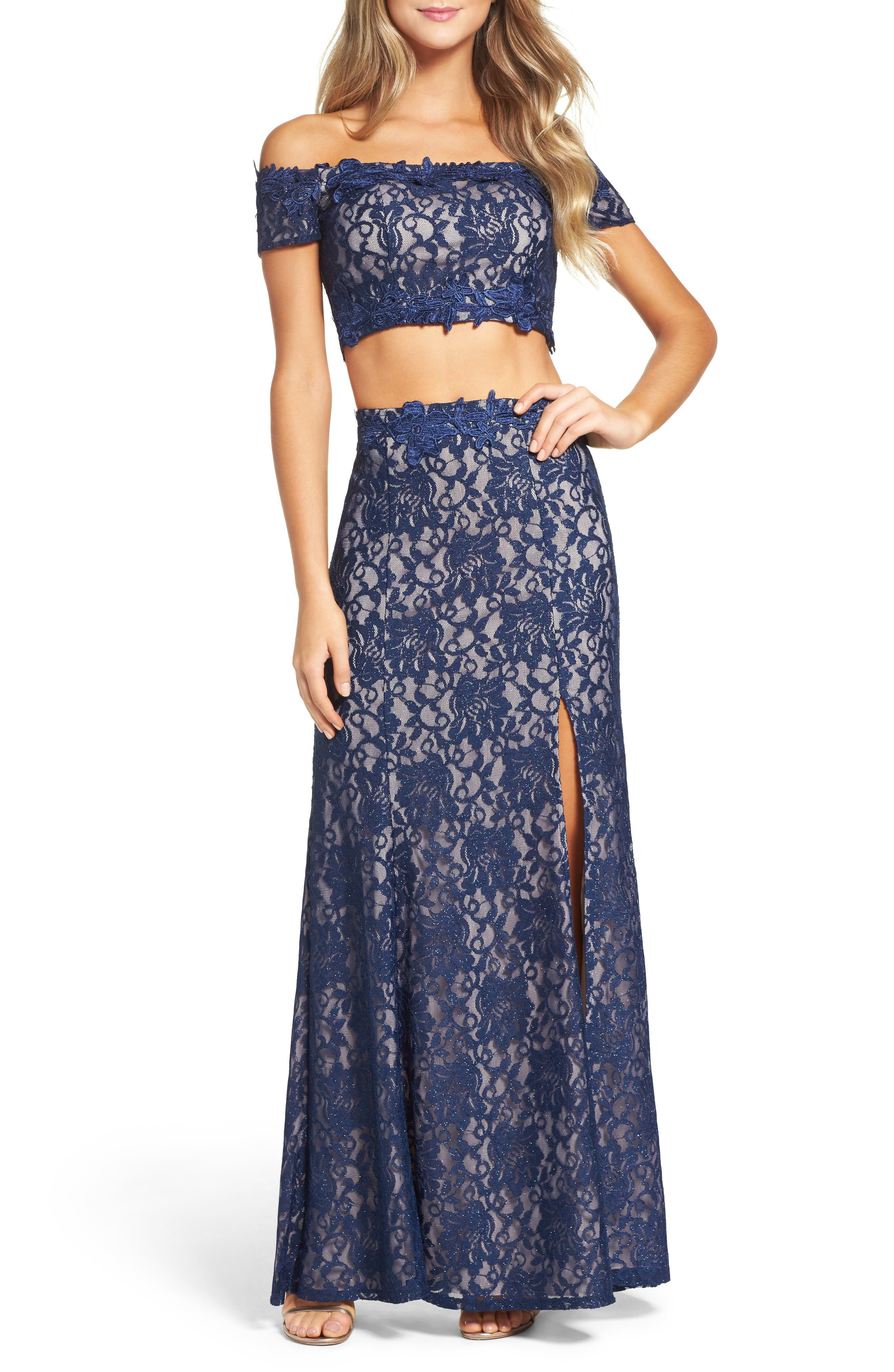 SEQUIN HEARTS Two-Piece Gown