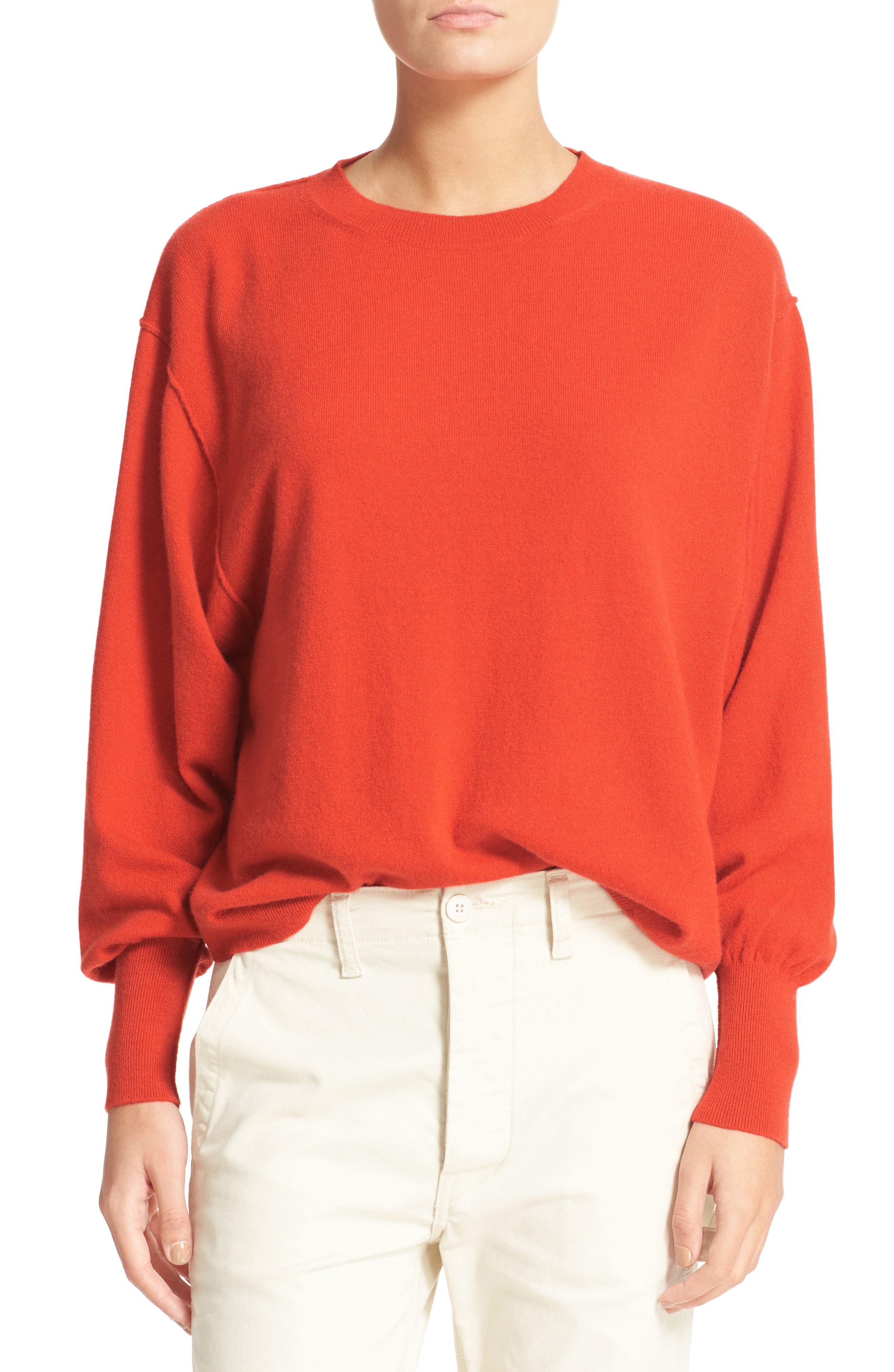 Alternate Image 1 Selected - Vince Shirttail Cashmere Sweater