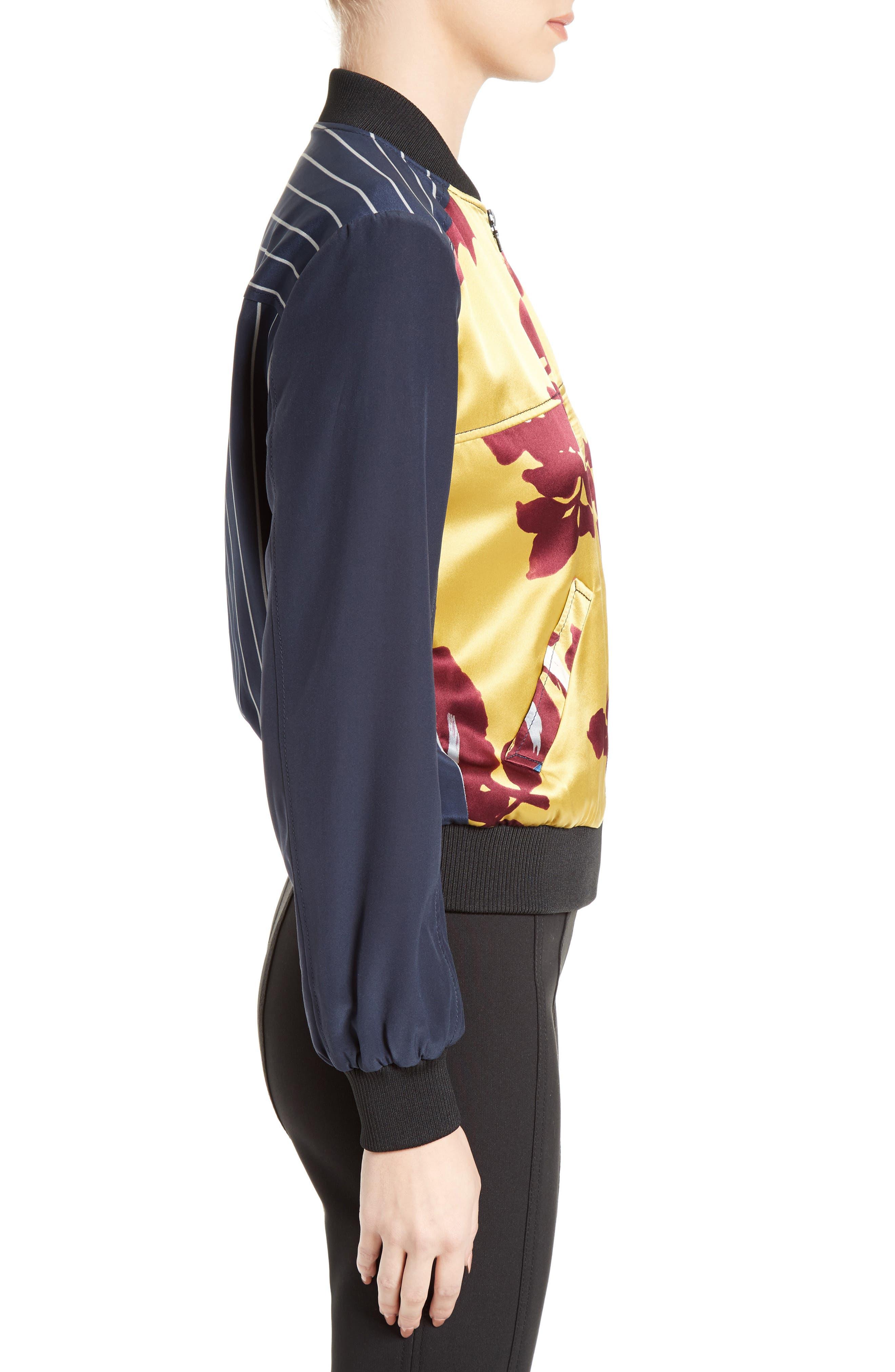 Alternate Image 3  - Cinq à Sept Harper Silk Satin Bomber Jacket