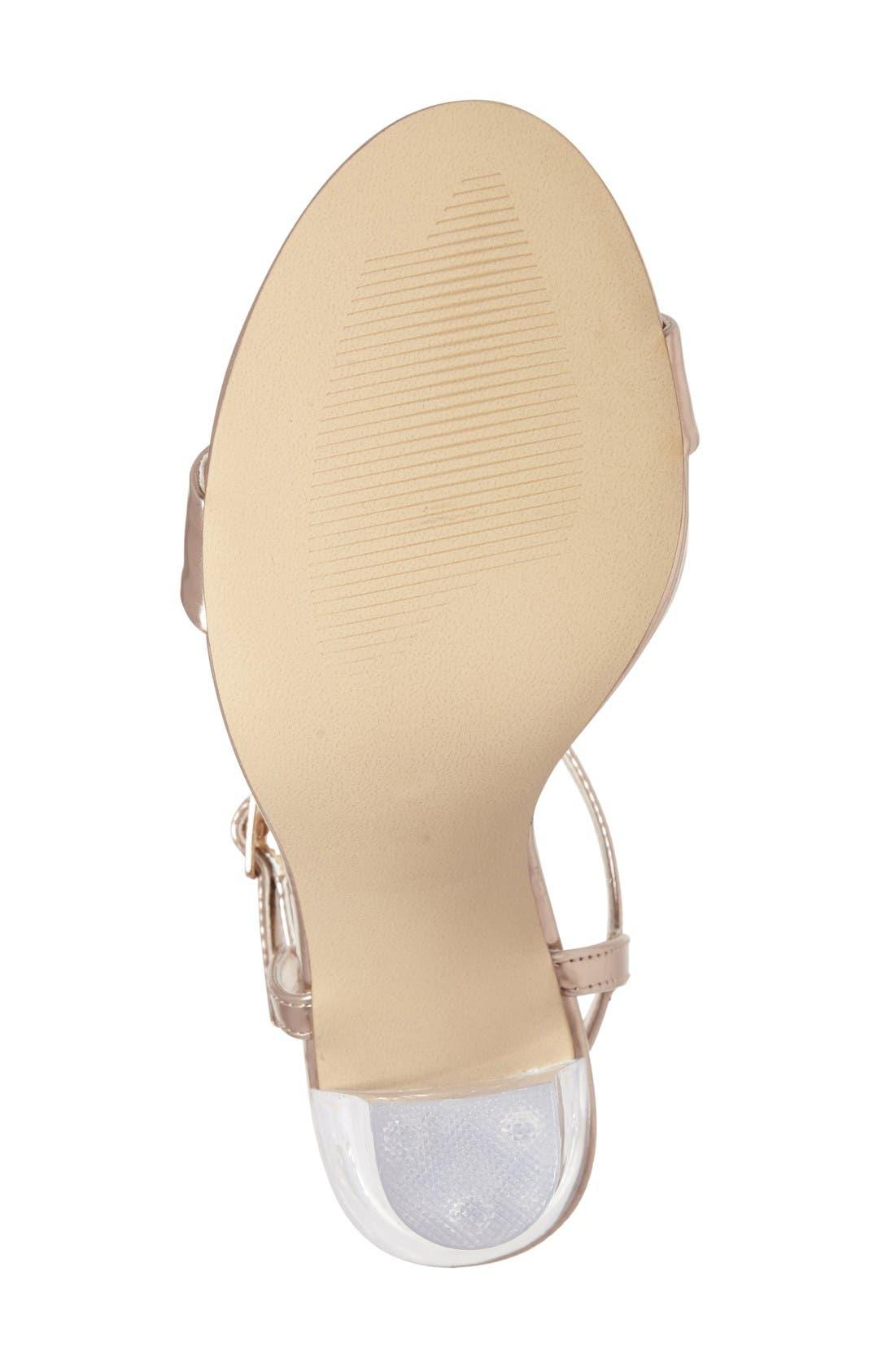 Alternate Image 4  - Steve Madden Vallery Clear Heeled Sandal (Women)