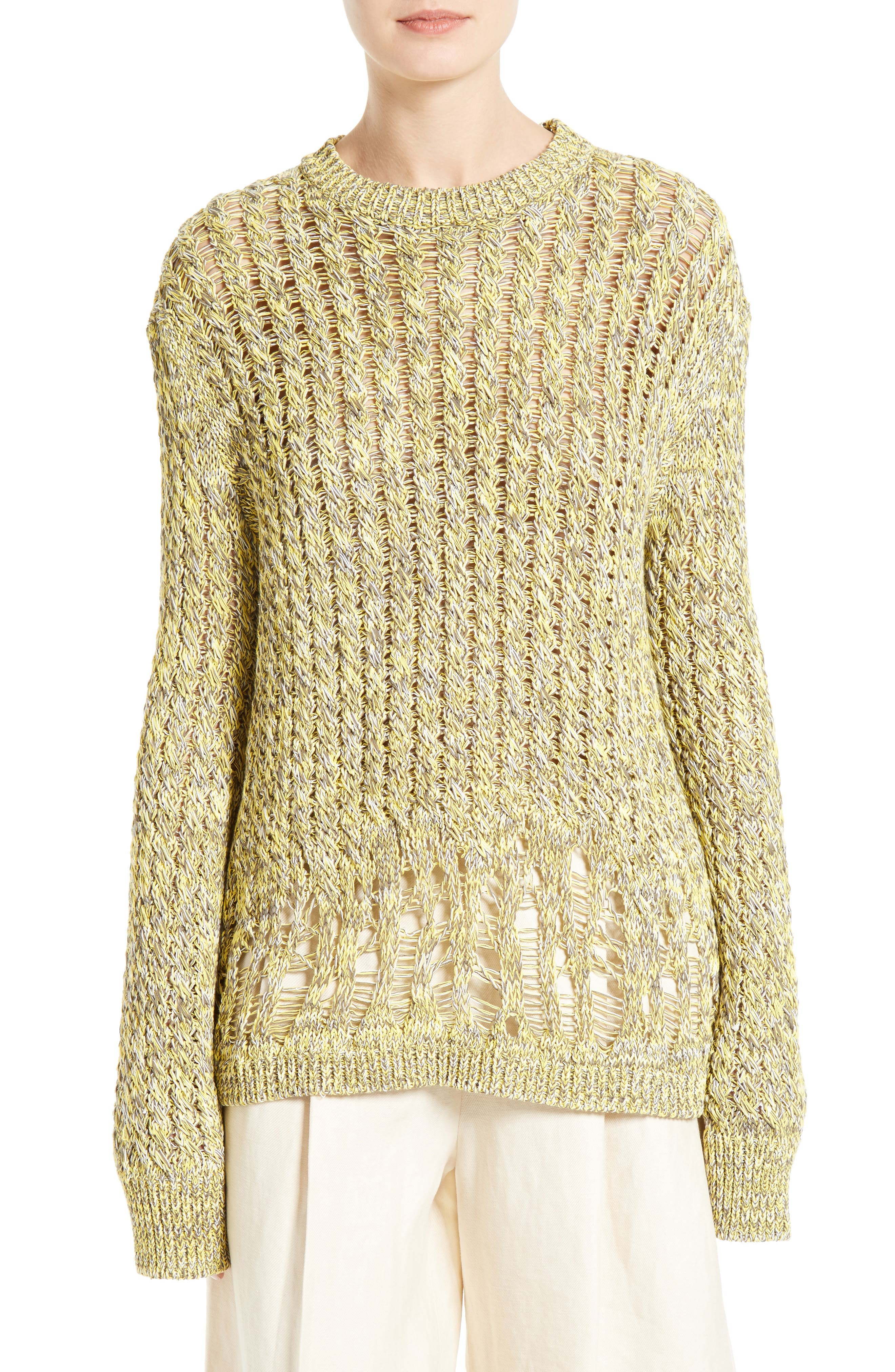 JOSEPH Destroyed Cable Knit Pullover